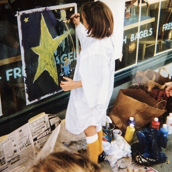 """Paint the Window Contest """"Reach for the Stars"""" circa 1997. Straight from a soccer game."""