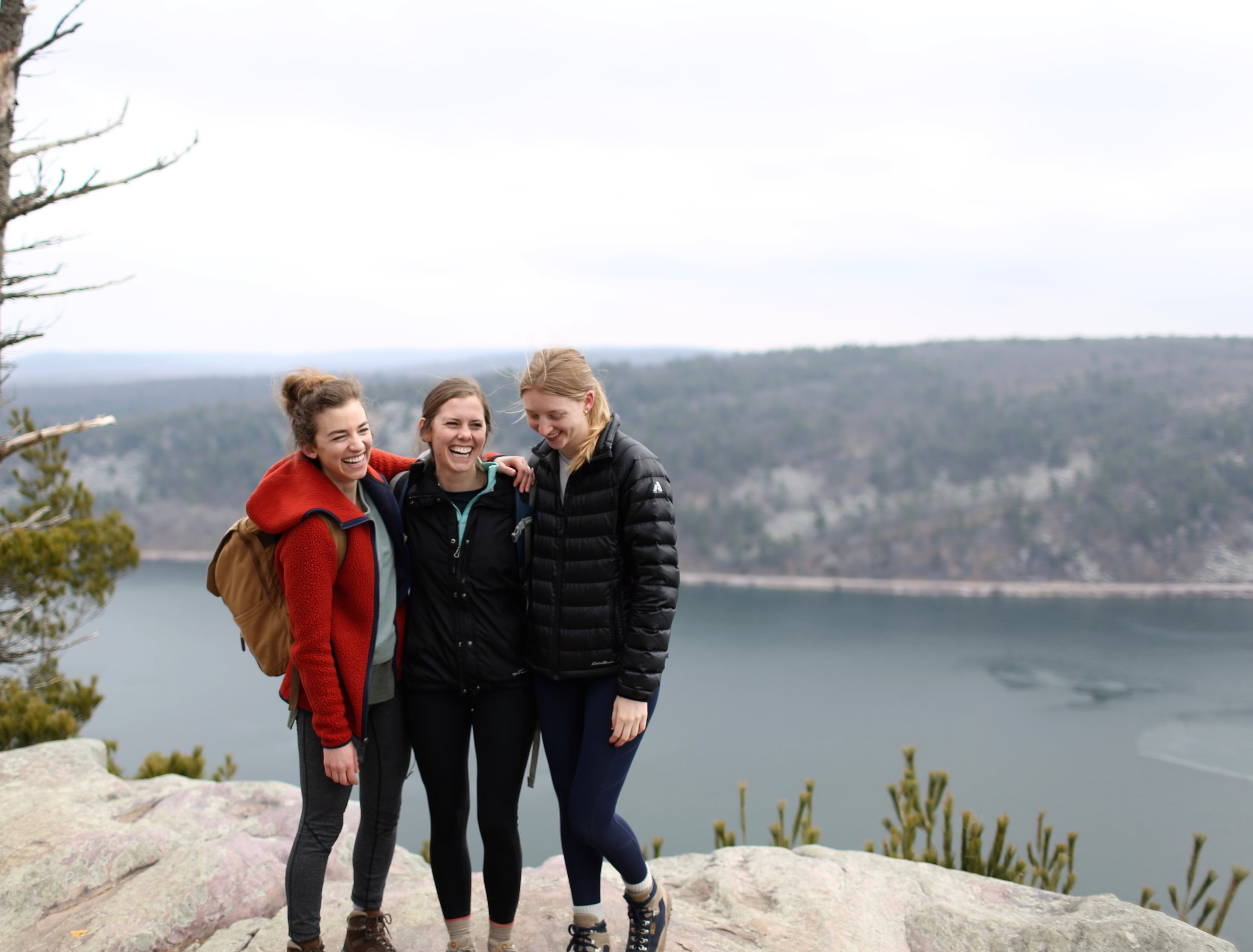 Me and some of my dear girlfriends at Devil's Lake this past weekend enjoying a hike and spring's final awakening.