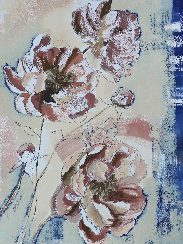 Healing Waves 18x24: Kelly Etz x Katherine Corden Art