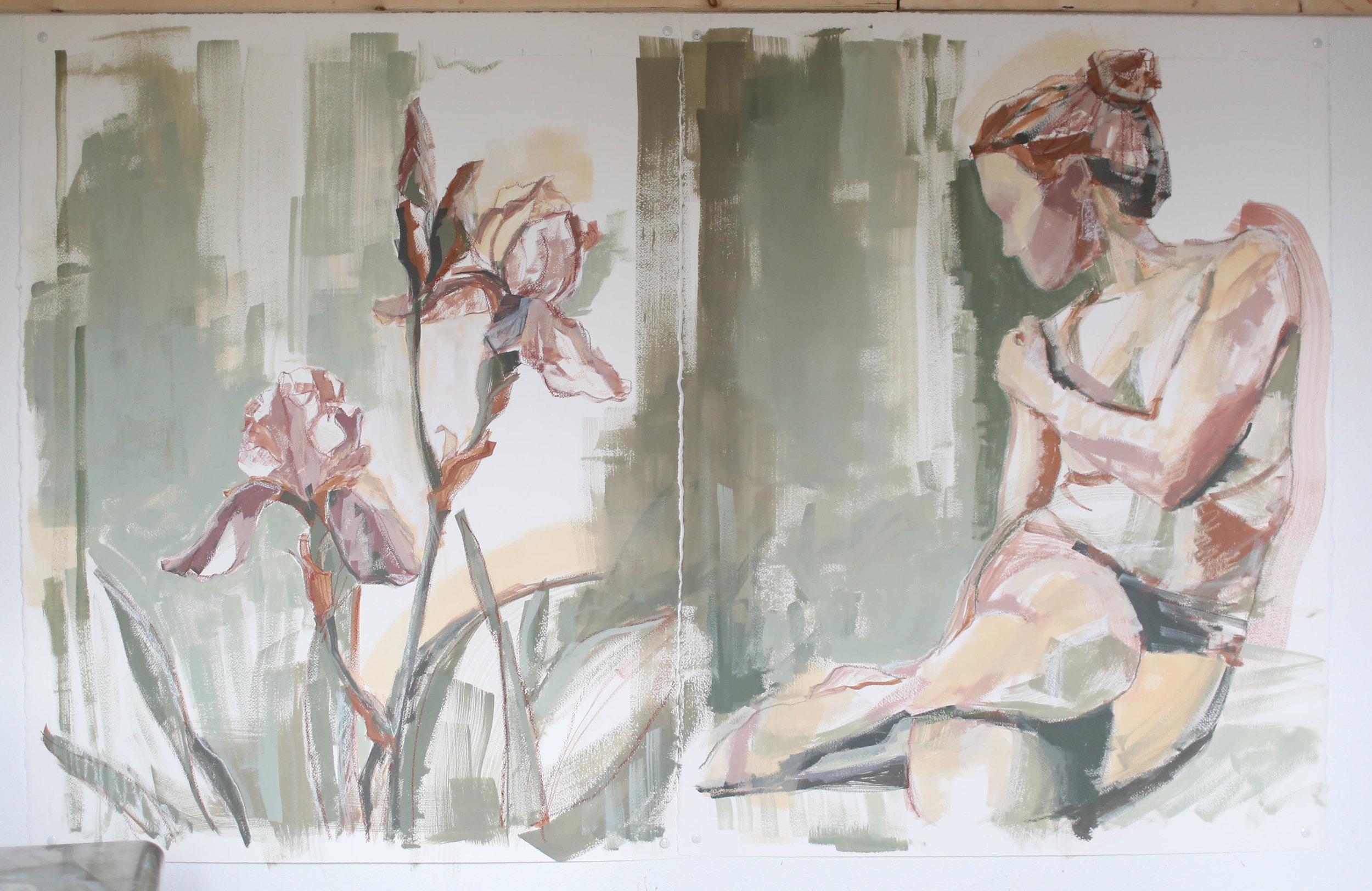 Irises for Kendall & Embrace This Season, Katherine Corden Art