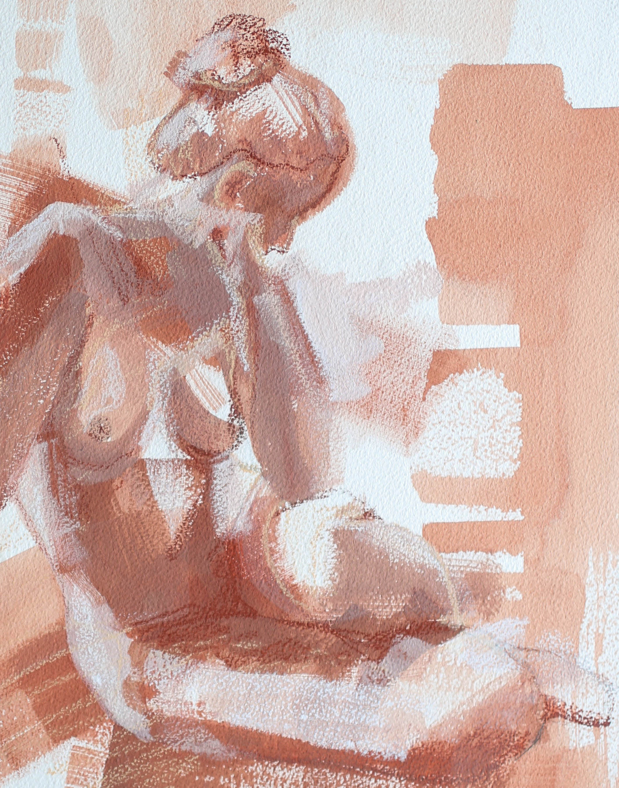 """What She's Made Of"" 11x14 Katherine Corden Art  #abstractfigure #figurepainting"