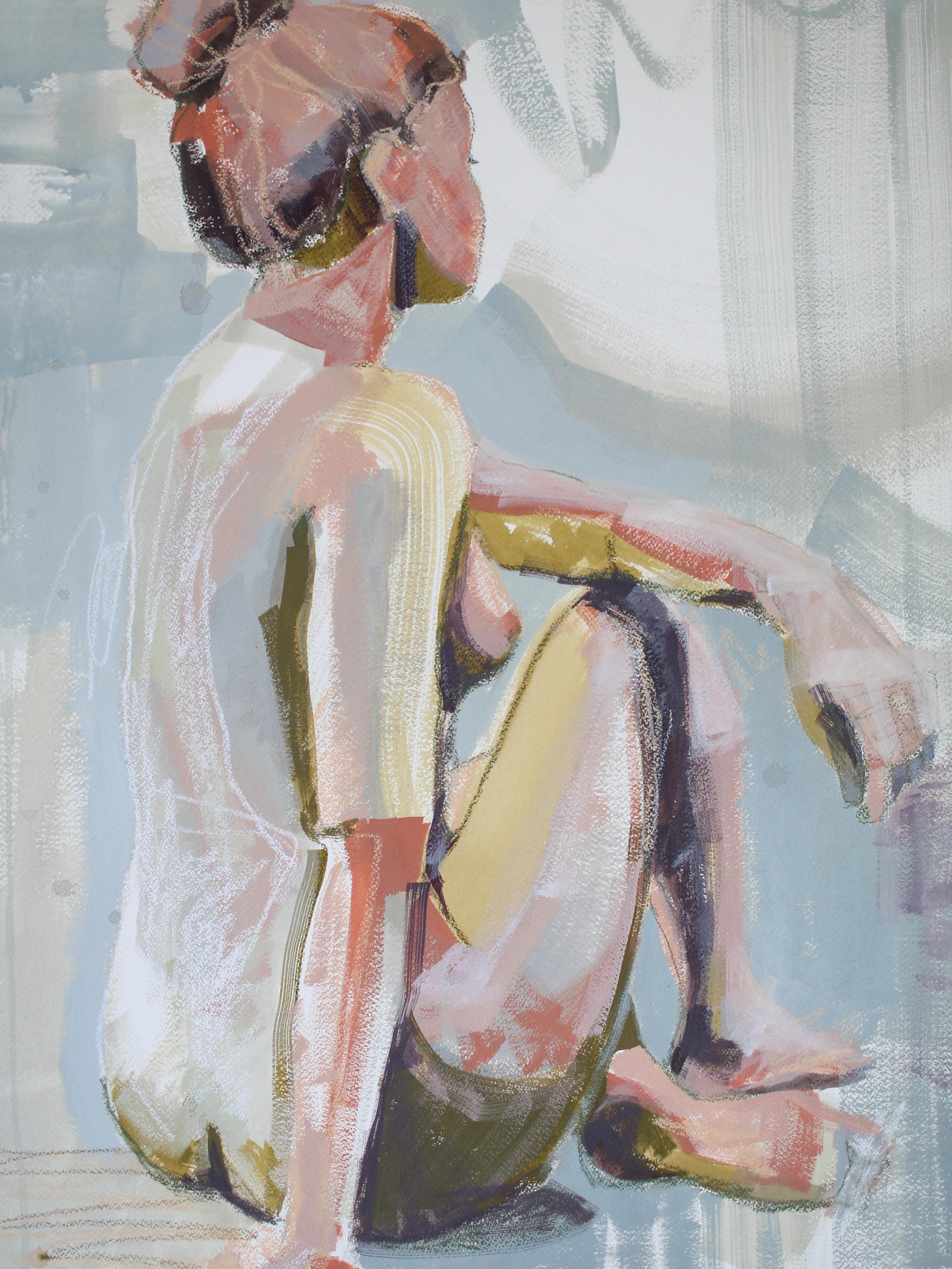 """A Fresh Water Start"" 18x24 Katherine Corden Art  #abstractfigure #figurepainting #figurestudy"