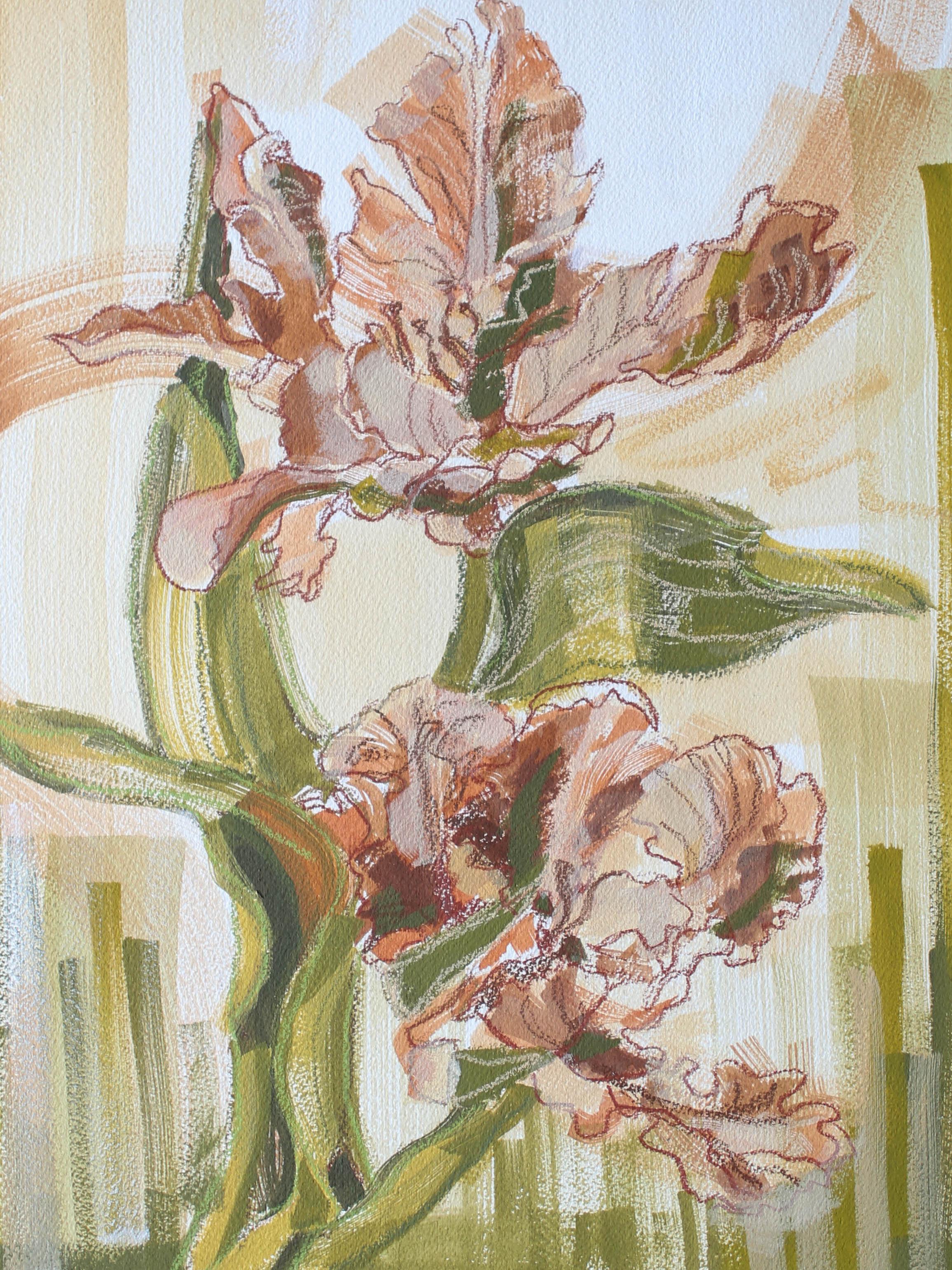 FLOWERS FOR THE MOTHER 12X16 Katherine Corden Art  #abstractflorals #flowerpainting #flowerstudy