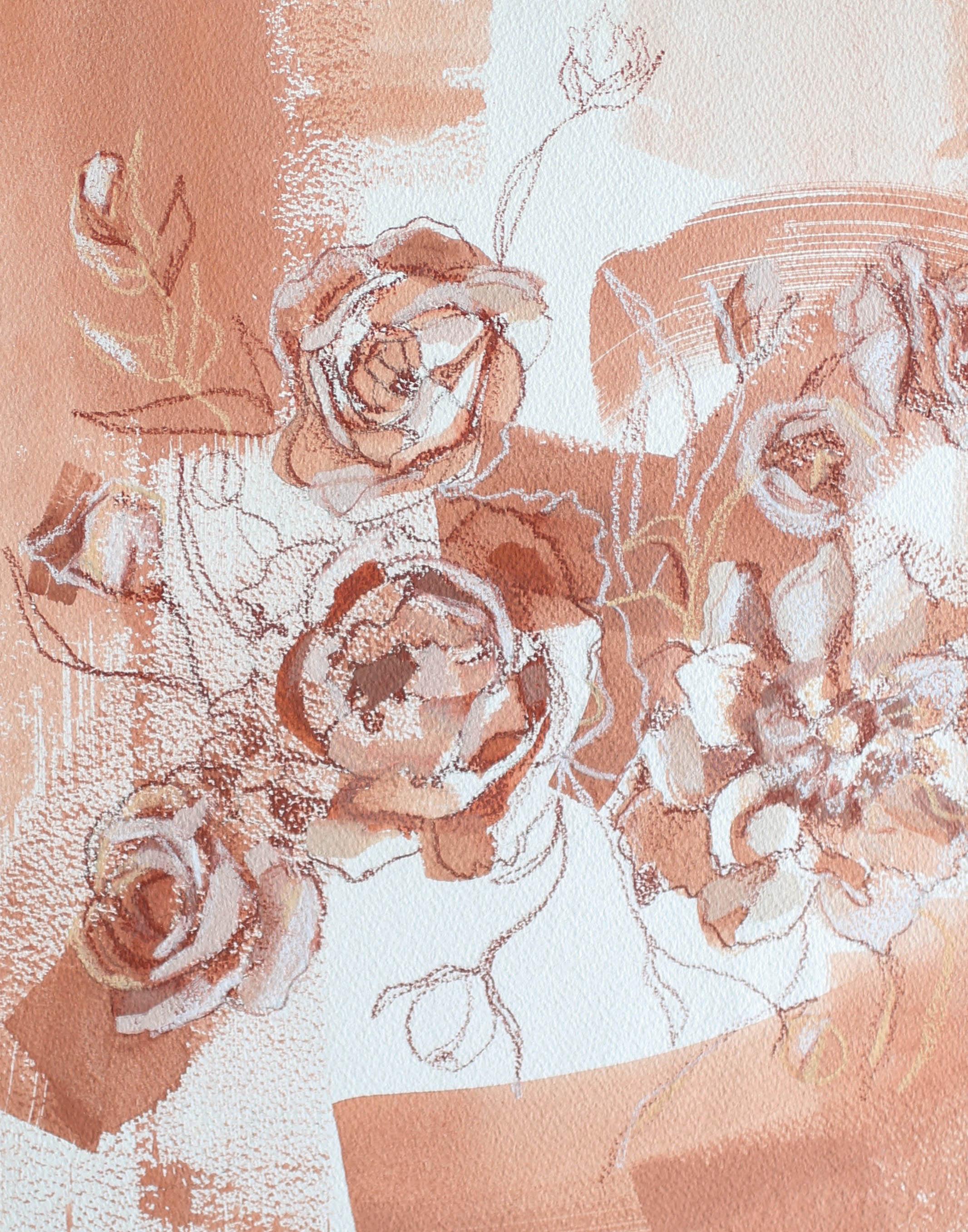 Wild Roses for Zoe, 11x14 Katherine Corden Art