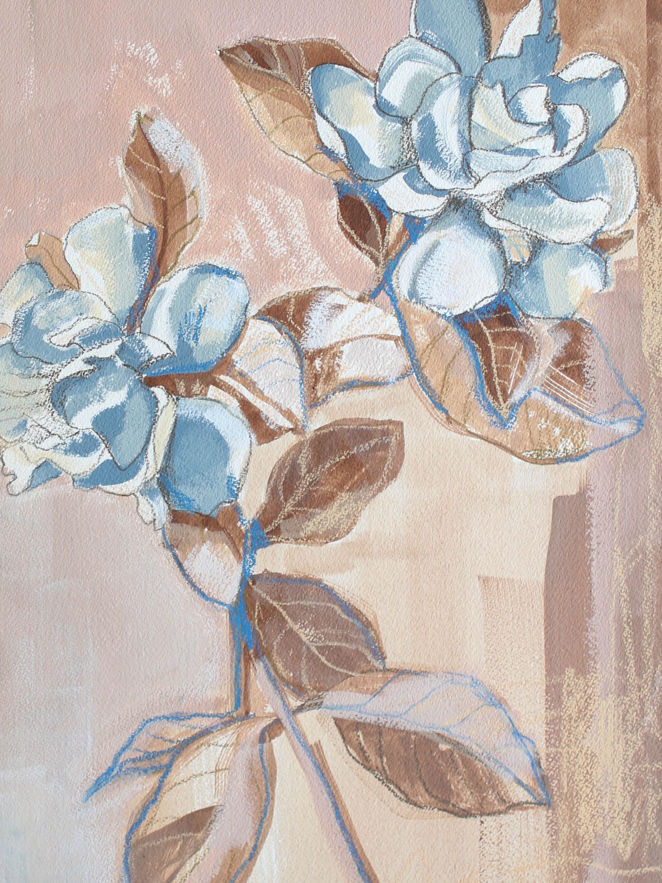 Gardenias for Caitln, 16x12 Katherine Corden Art