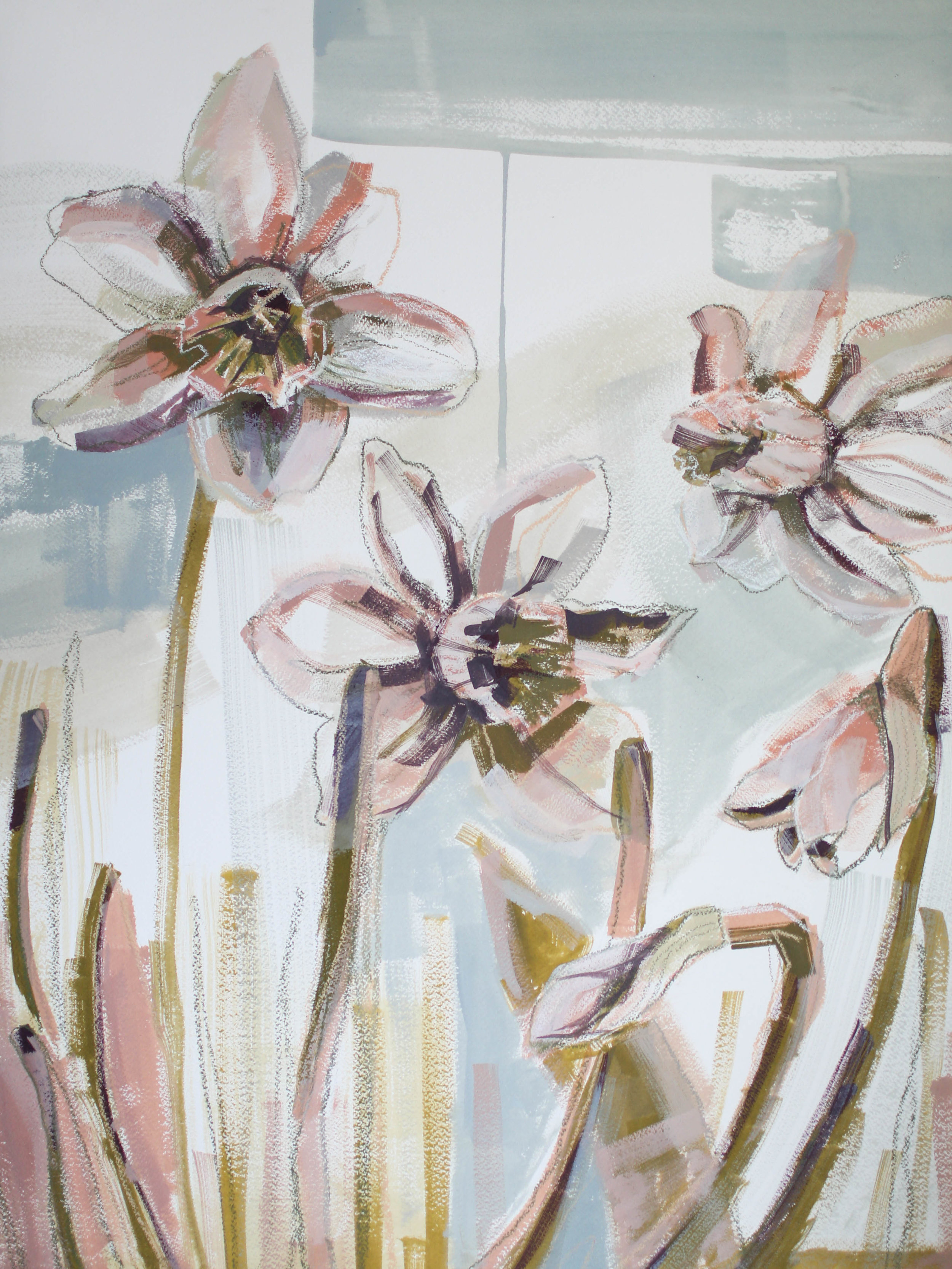 Daffodils for Mae, 18x24 Katherine Corden Art