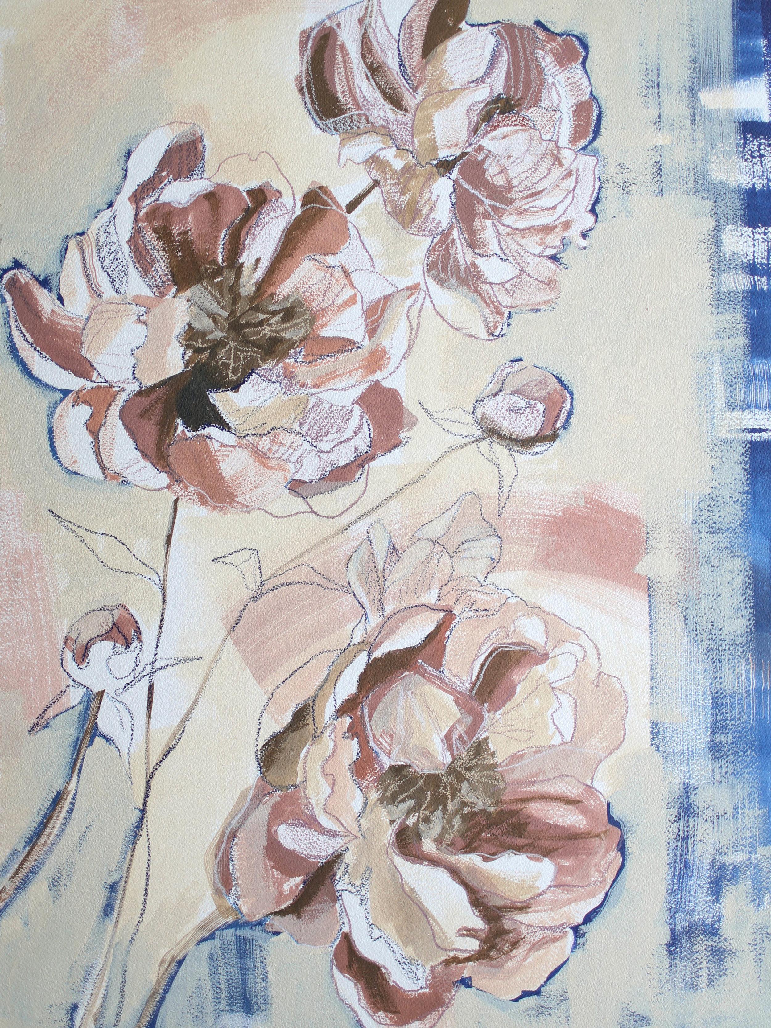 Peonies for Kelly, 18x24 Katherine Corden Art