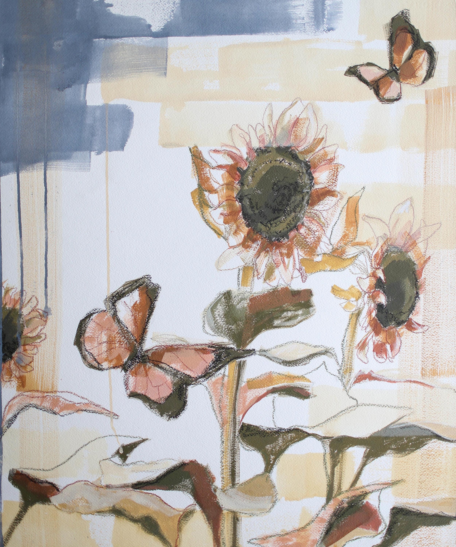 Sunflowers for Kate, 20x24 Katherine Corden Art