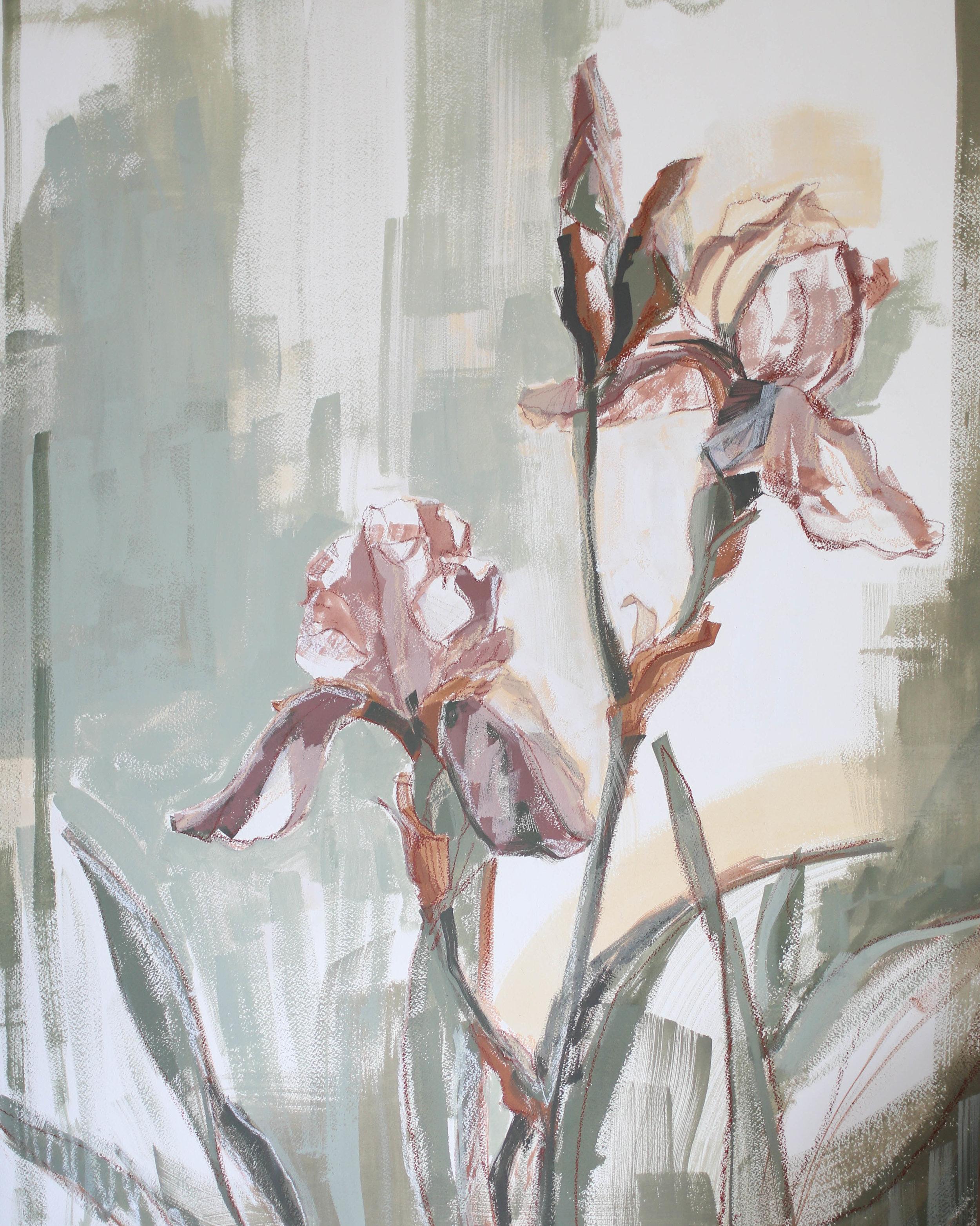 Irises for Kendall, 24x30 Katherine Corden Art