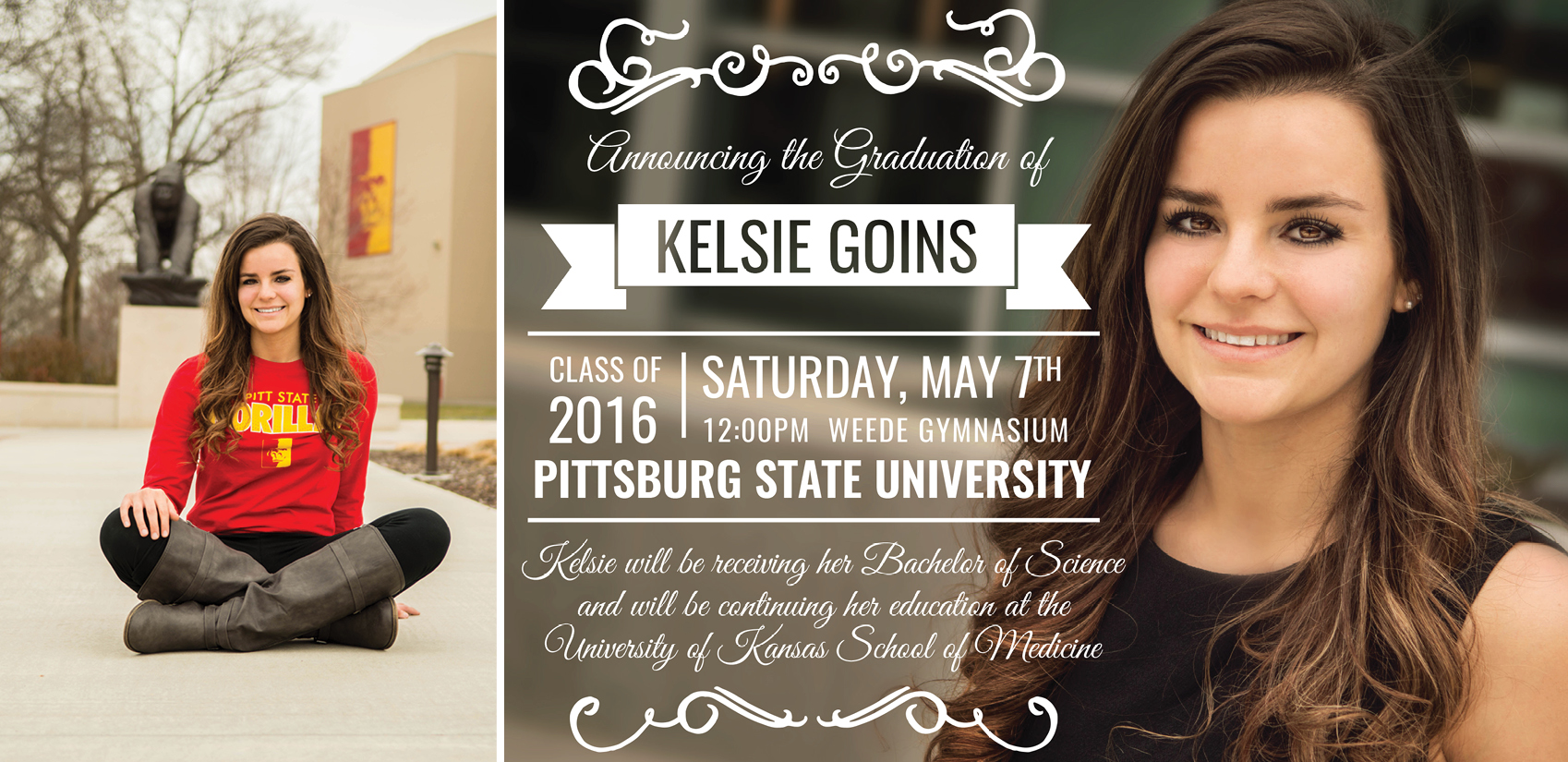 Kelsie-Senior Session and Graduation Invitation