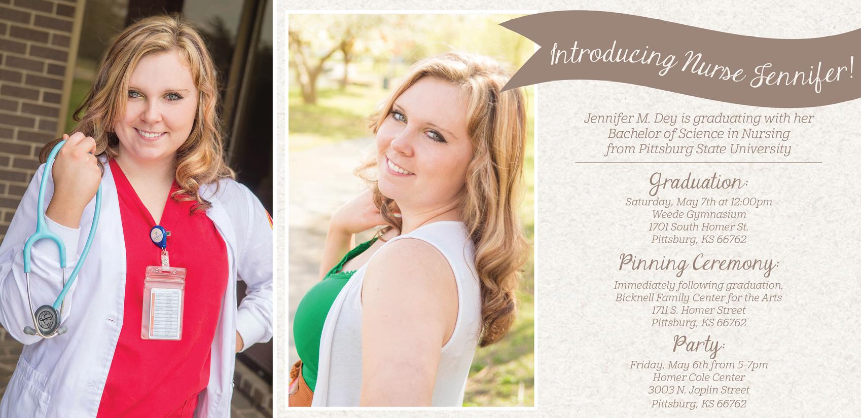 Jenn-Senior Session and Graduation Invitation