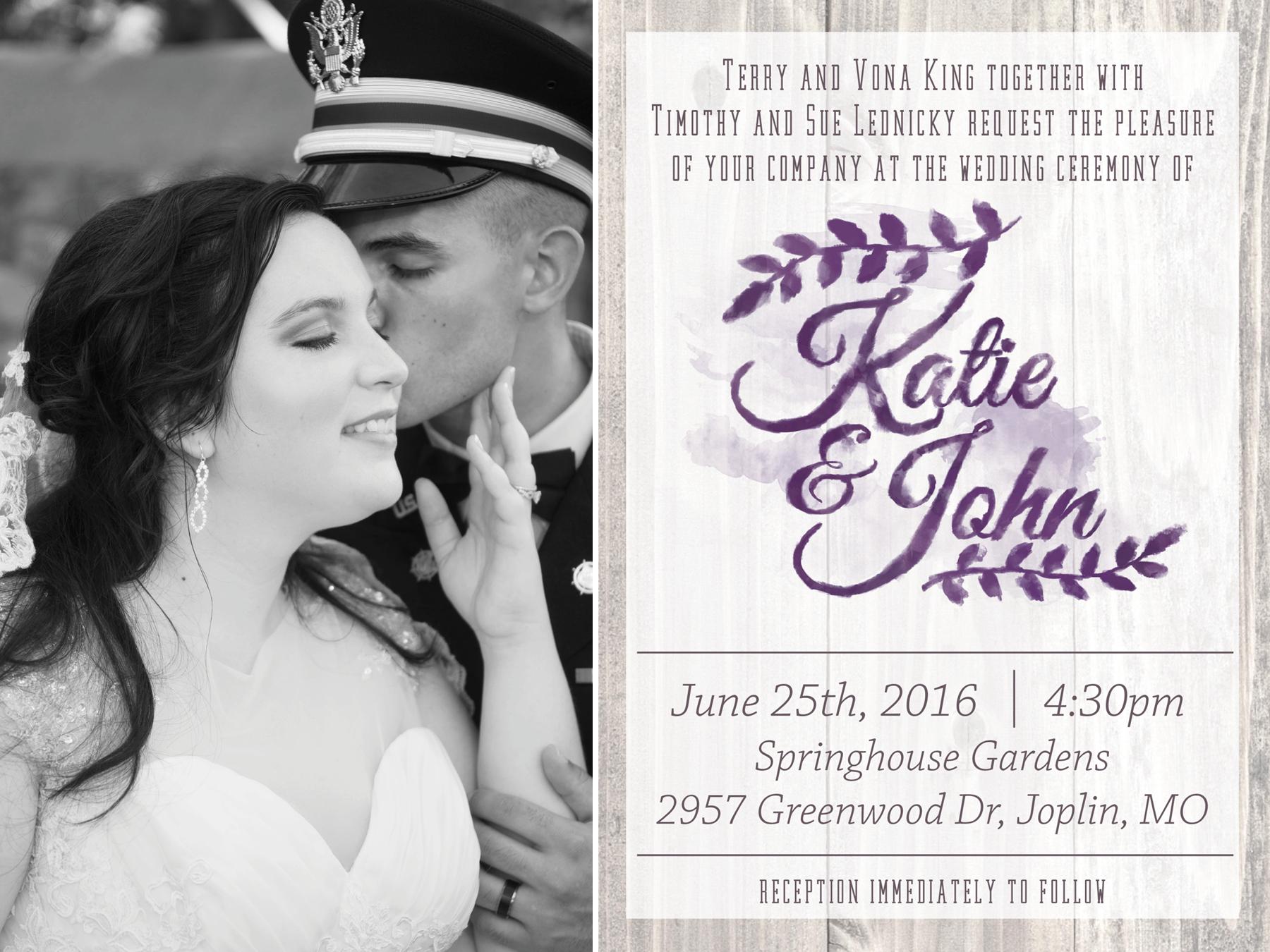 Lednicky Wedding and Invitation
