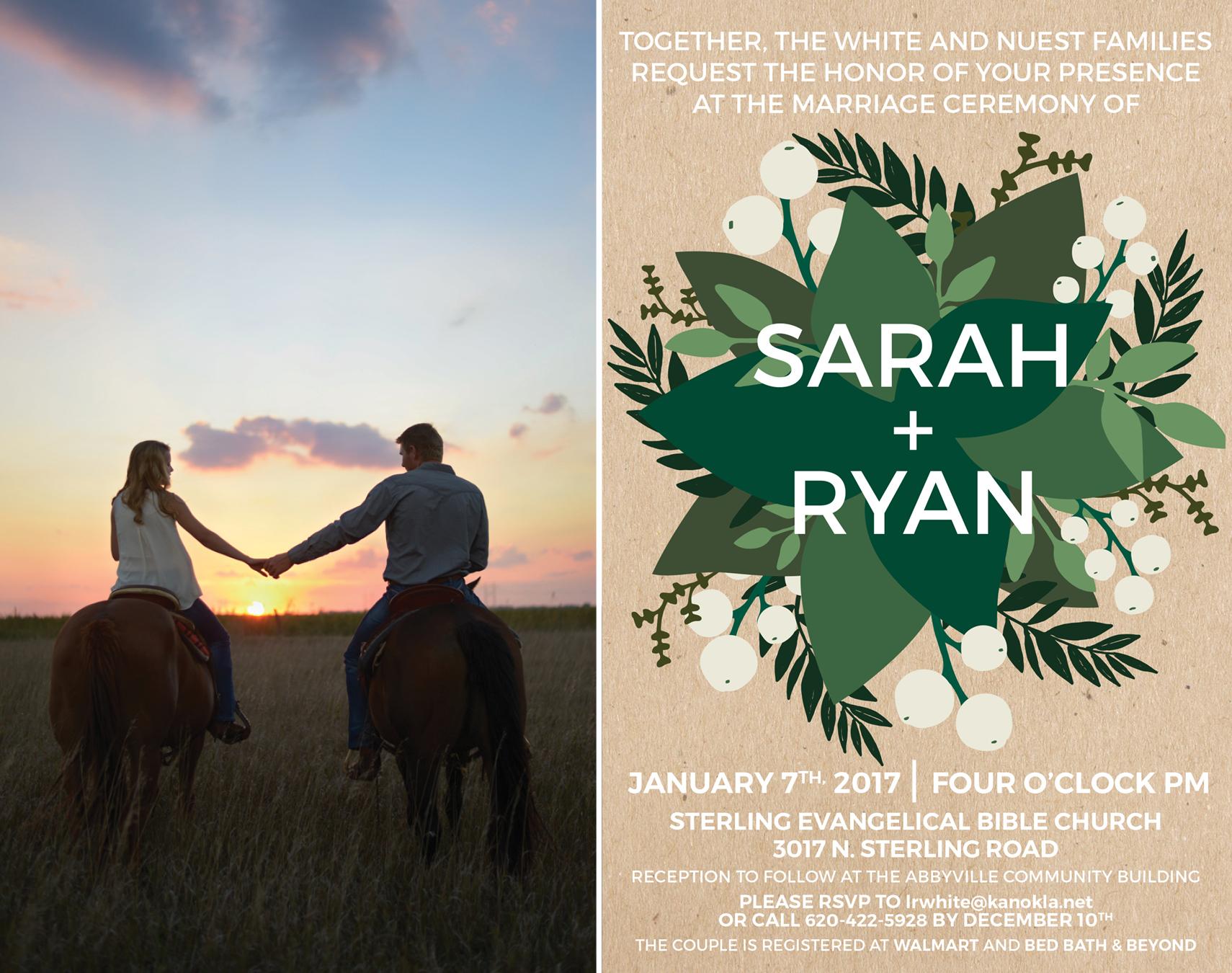 Sarah+Ryan-Engagement Session and Wedding Invitation