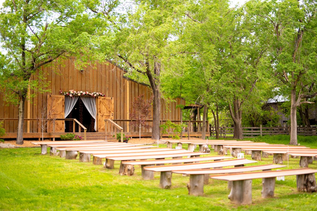 The Outdoor Ceremony Space at Cedar Tree Barn