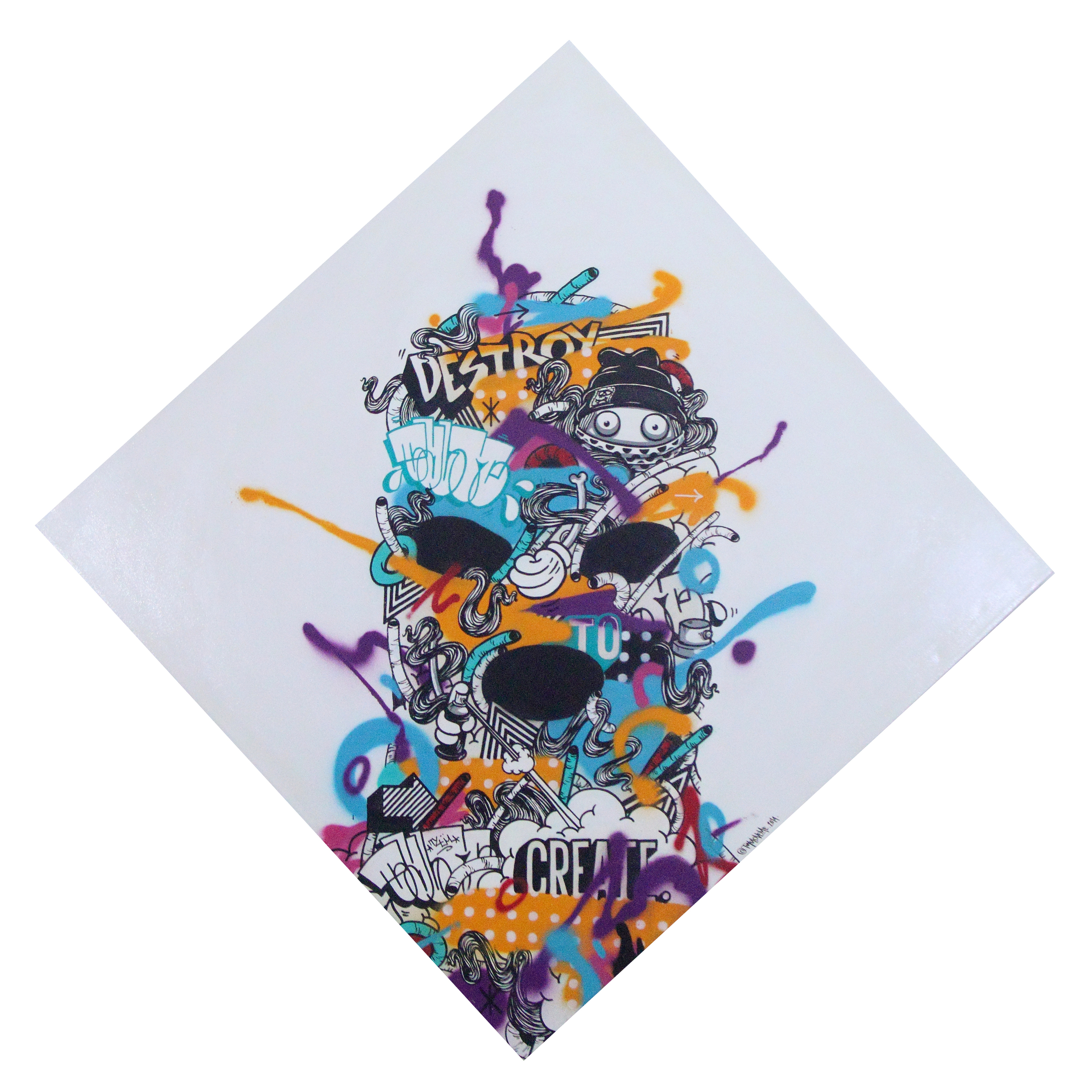 %22Destroy to create%22 : Mixmedia on canvas : 100cmx100xm : 2014.JPG.JPG