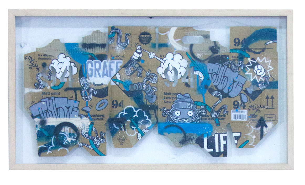 %22Graff life%22 : mixmedia on cardboard : 2014.jpg