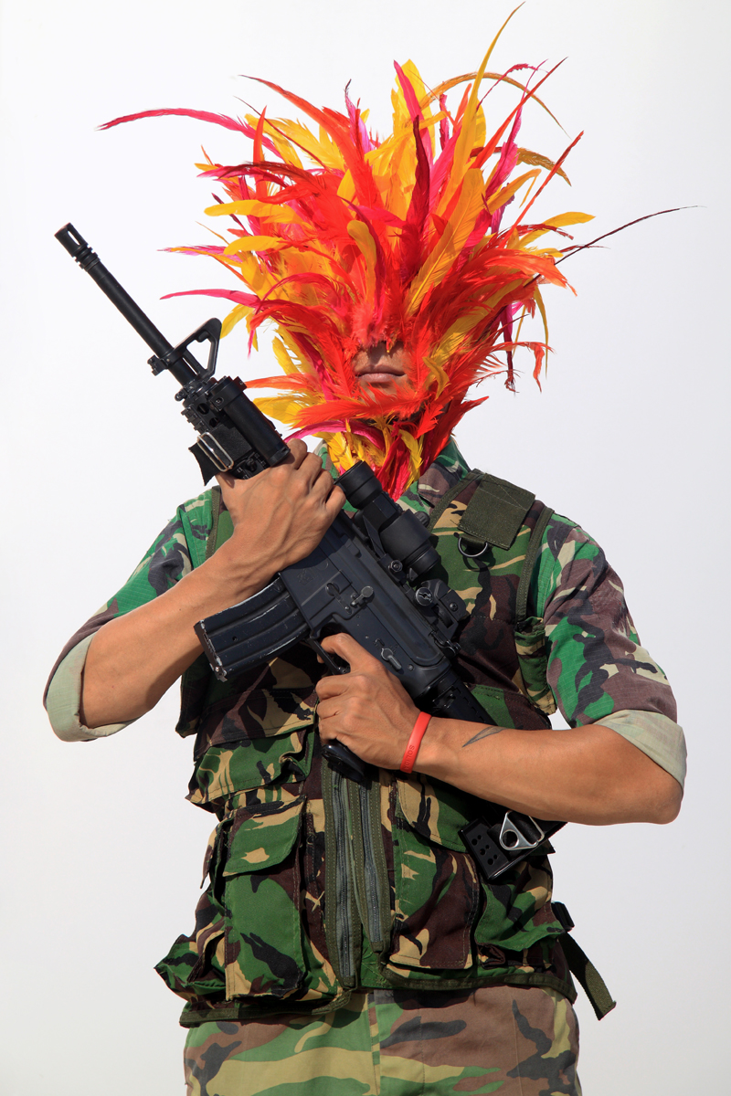 Artist: Jim Allen Abel, Indonesia    Title: Self Portrait - Tentara Medium: c-print paper on d-bond & plexiglass   Dimension: 100 cm x 150 cm Edition: 3 + 2 AP    Year: 2011    SOLD