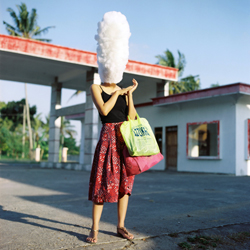 Artist: Wimo Ambala Bayang, Indonesia    Title: High  Hopes (Julia)  Medium: Pigment print on Hahnemuele Monet Canvas   Dimension:110 cm x 110 cm, 3 editions + 2AP Year:2010    SOLD