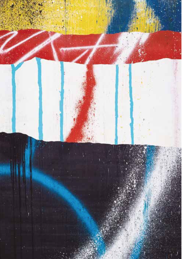 Artist: TIlt, France    Title: Layers Medium: spray paint and ink on canvas   Dimension: 162 x 114 cm Year: 2016