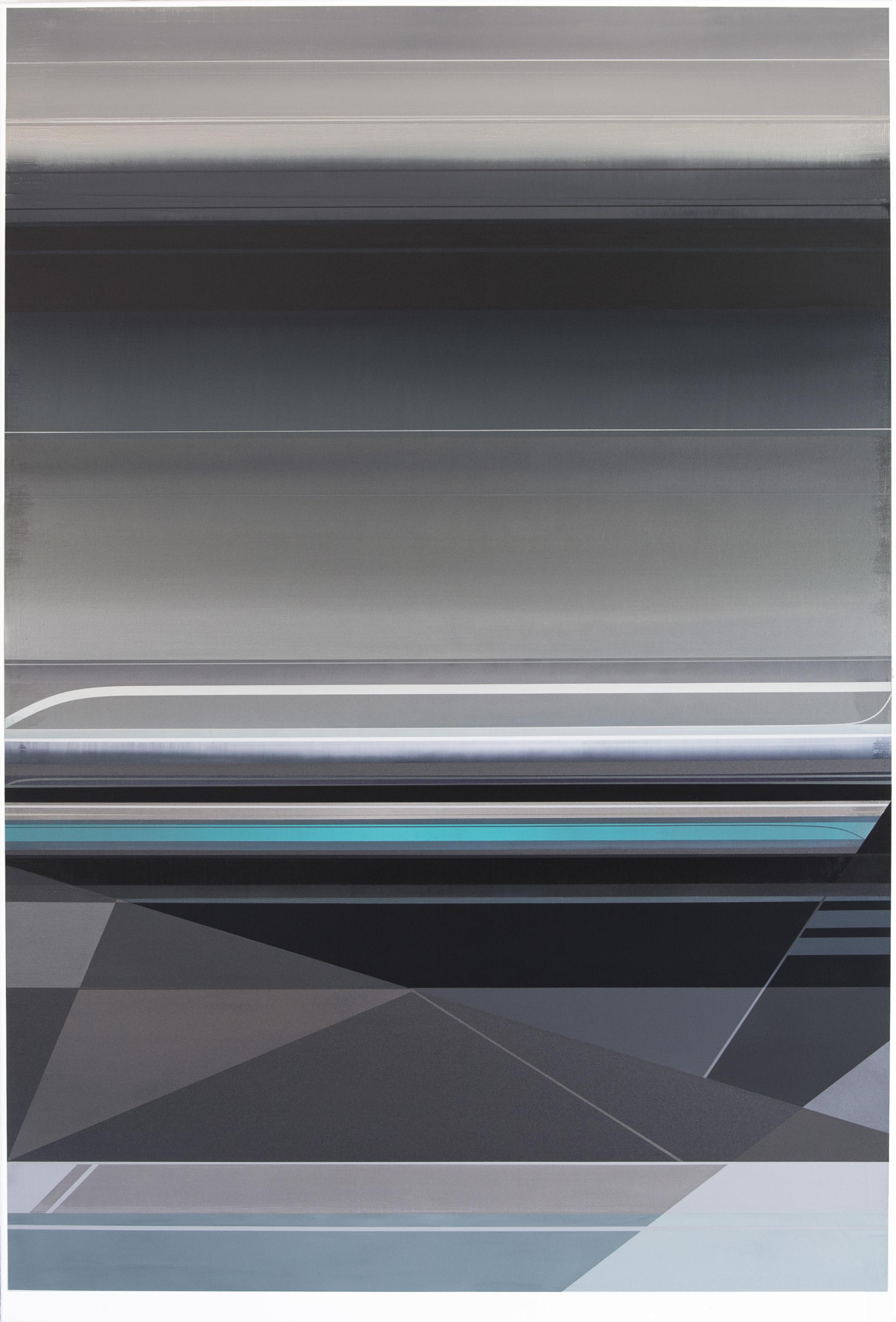Micah Crandall-Bear, b.1980 (USA)  Title: Hydrous  Dimension: 182.88 x 121.92 cm  Year: 2017