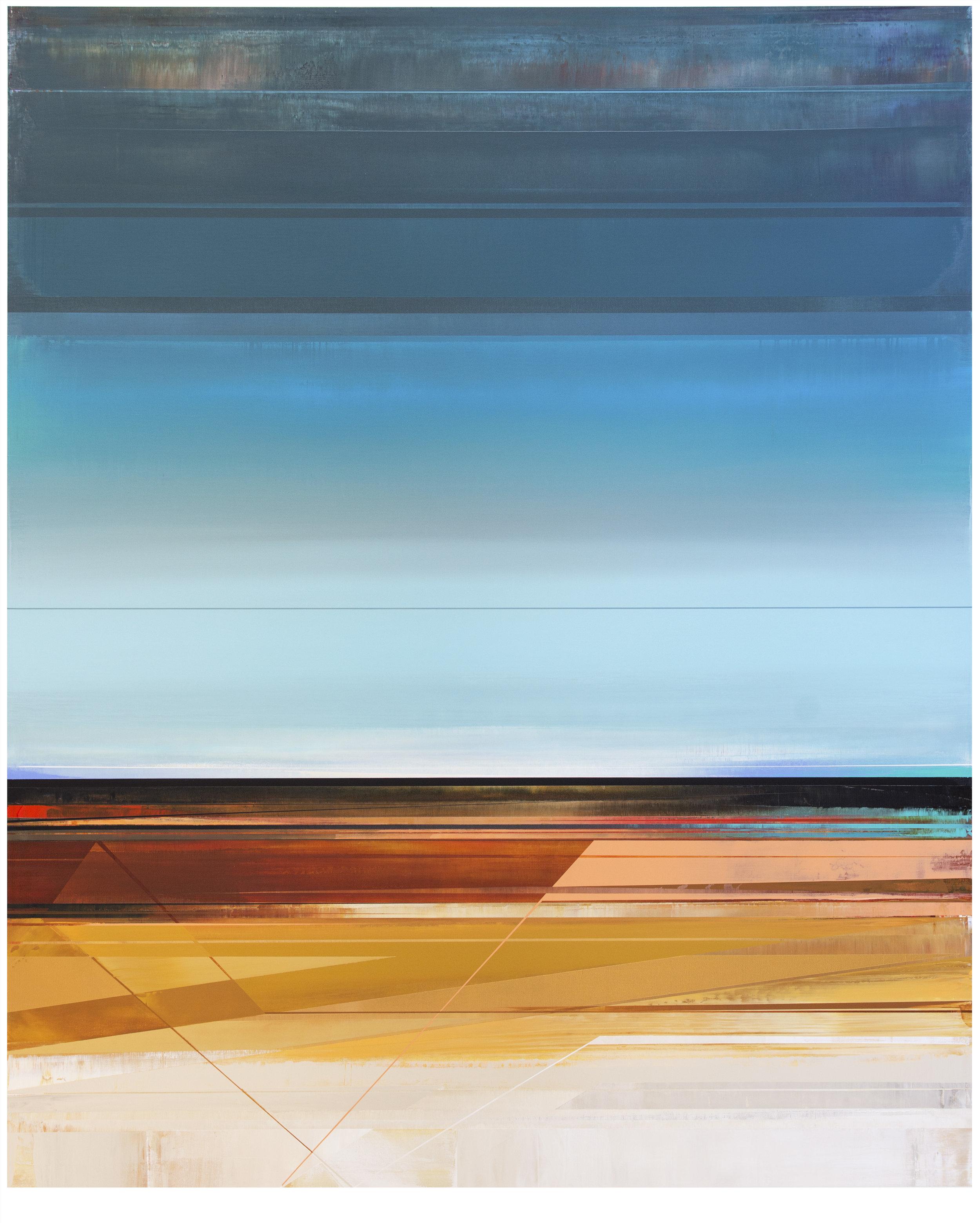 Micah Crandall-Bear, b.1980 (USA)  Title: Domain II  Dimension: 152.56 x 121.92 cm  Year: 2017