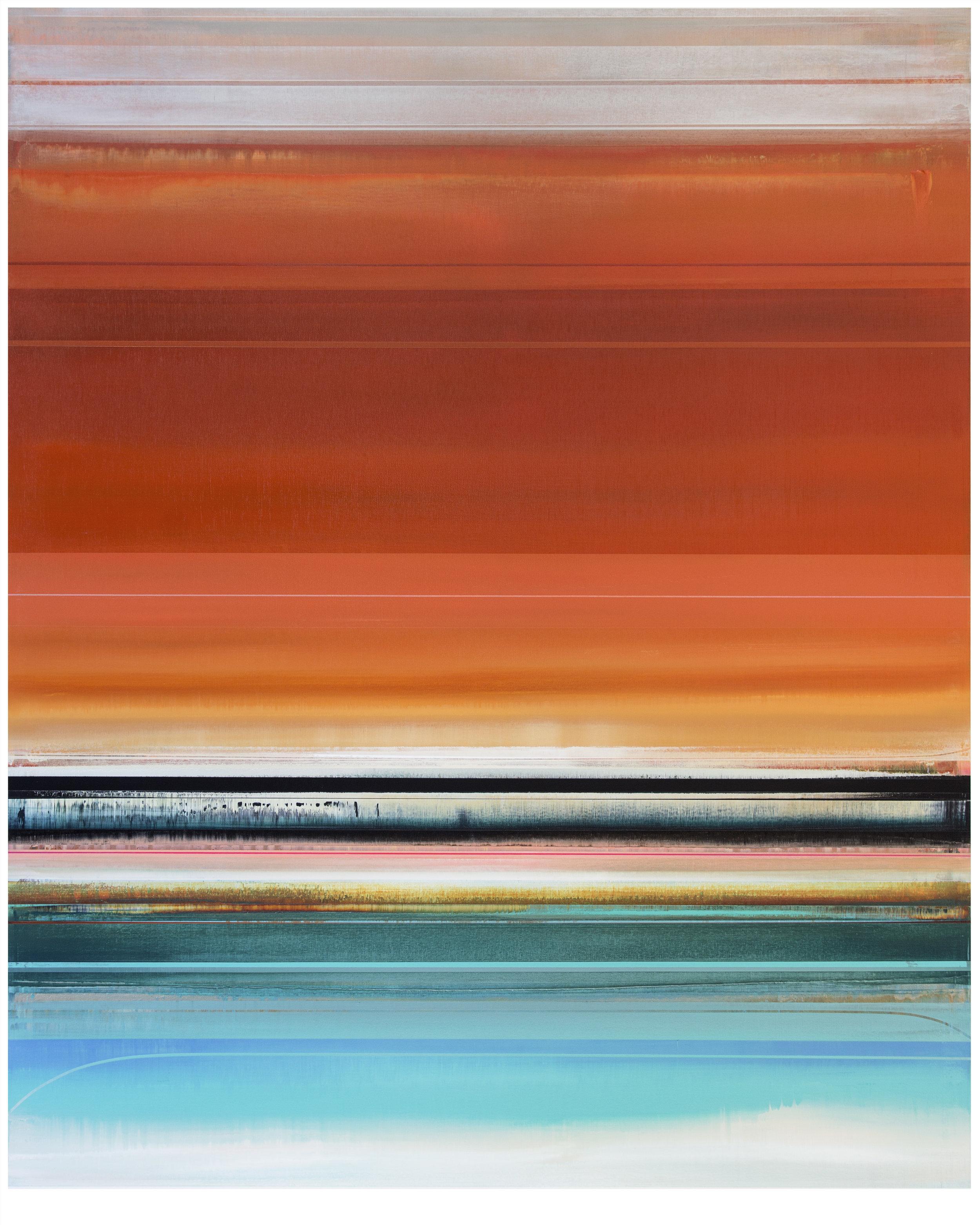 Micah Crandall-Bear, b.1980 (USA)  Title: Ventria  Dimension: 156.56 x 122.08 cm  Year: 2017