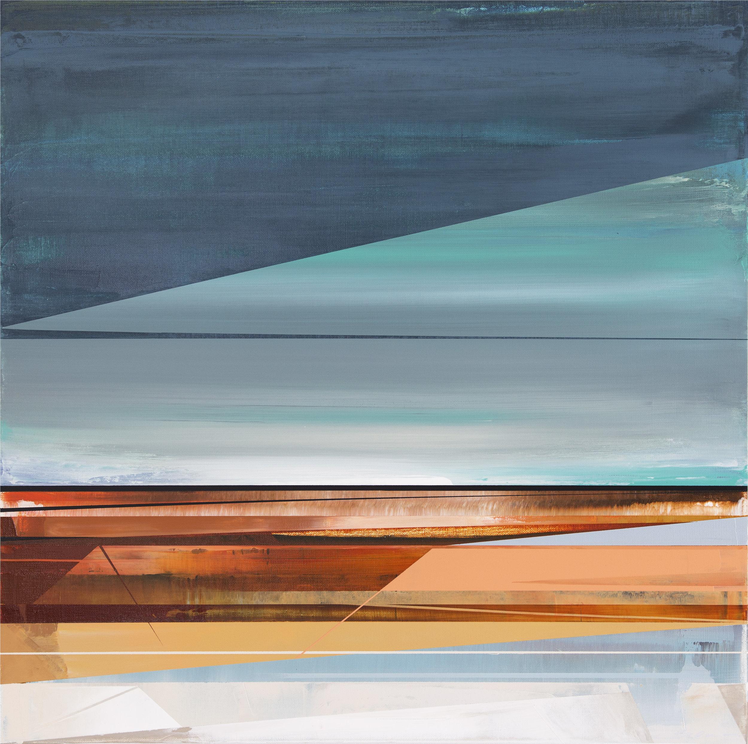 Micah Crandall-Bear, b.1980 (USA)  Title: Domain III  Dimension: 60.96 x 60.96 cm  Year: 2017