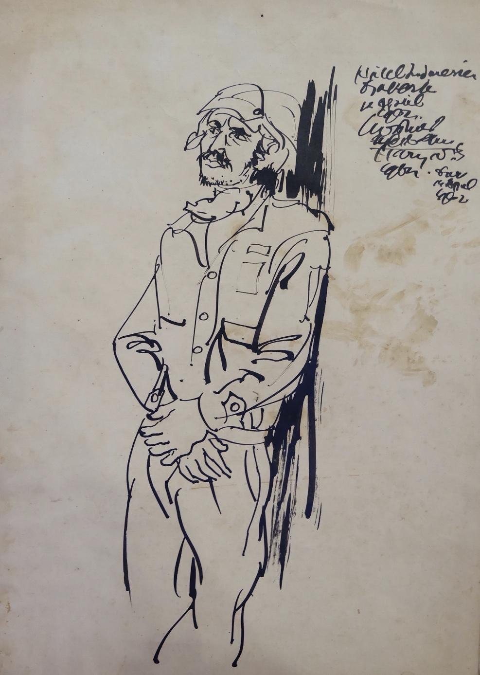 Artist: Harijadi Sumodidjojo, b.1919 (Indonesia)  Title: Medium: ink on paper Dimension: 21 cm x 30 cm Year: 1962