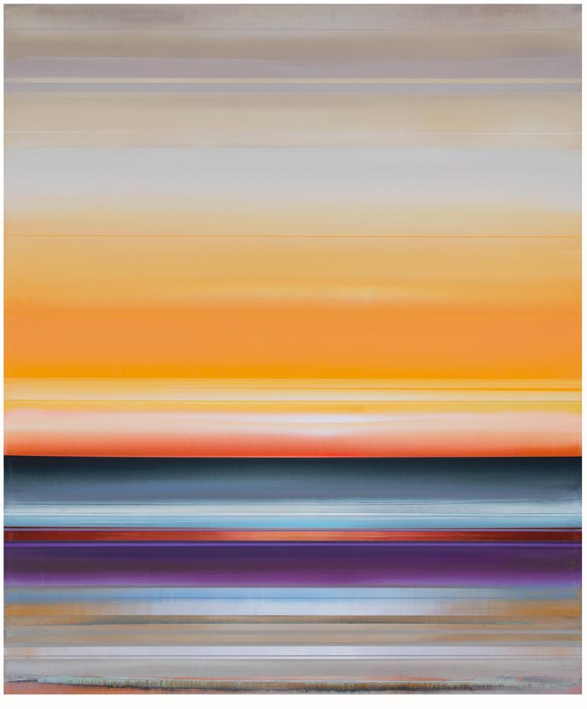 Artist: Micah Crandall-Bear, USA  Title: Mezo Medium: acrylic on canvas  Dimension: 183 cm x 152 cm Year: 2017
