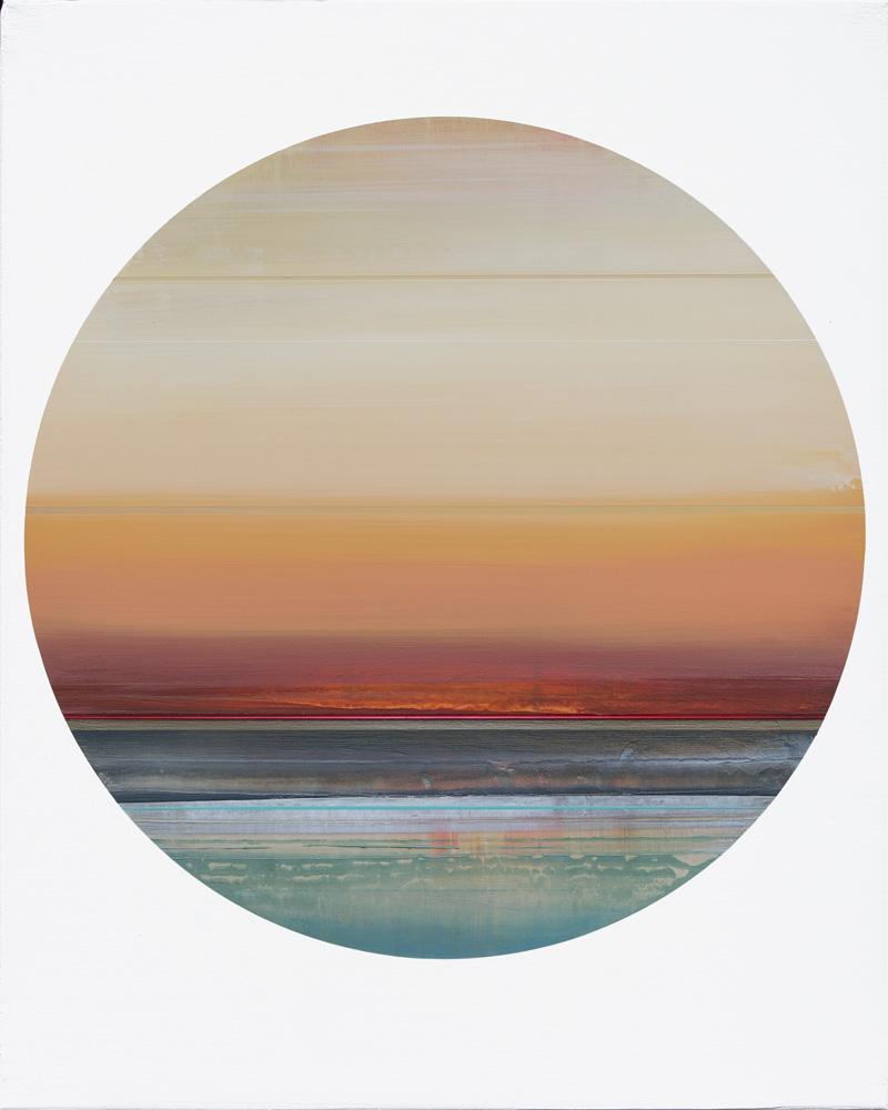 Artist: Micah Crandall-Bear, USA  Title: Passenger 4 Medium: acrylic on canvas  Dimension: 50 cm x 40 cm Year: 2017   SOLD
