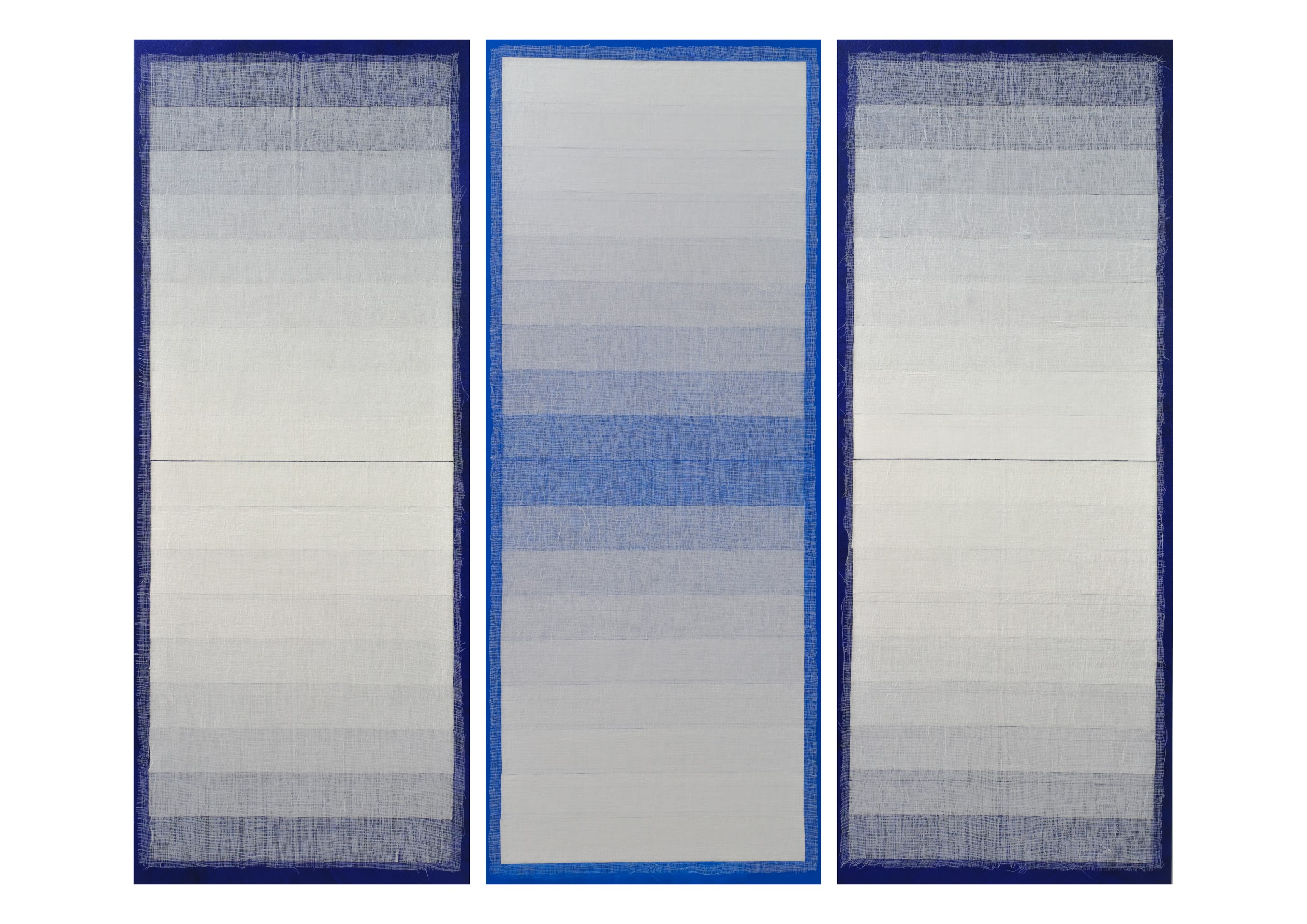 Artist: SAIFUL RAZMAN, MALAYSIA  Title: Closer Medium: acrylic on canvas  Dimension: 190 X 228 cm (triptych) Year: 2019    SOLD