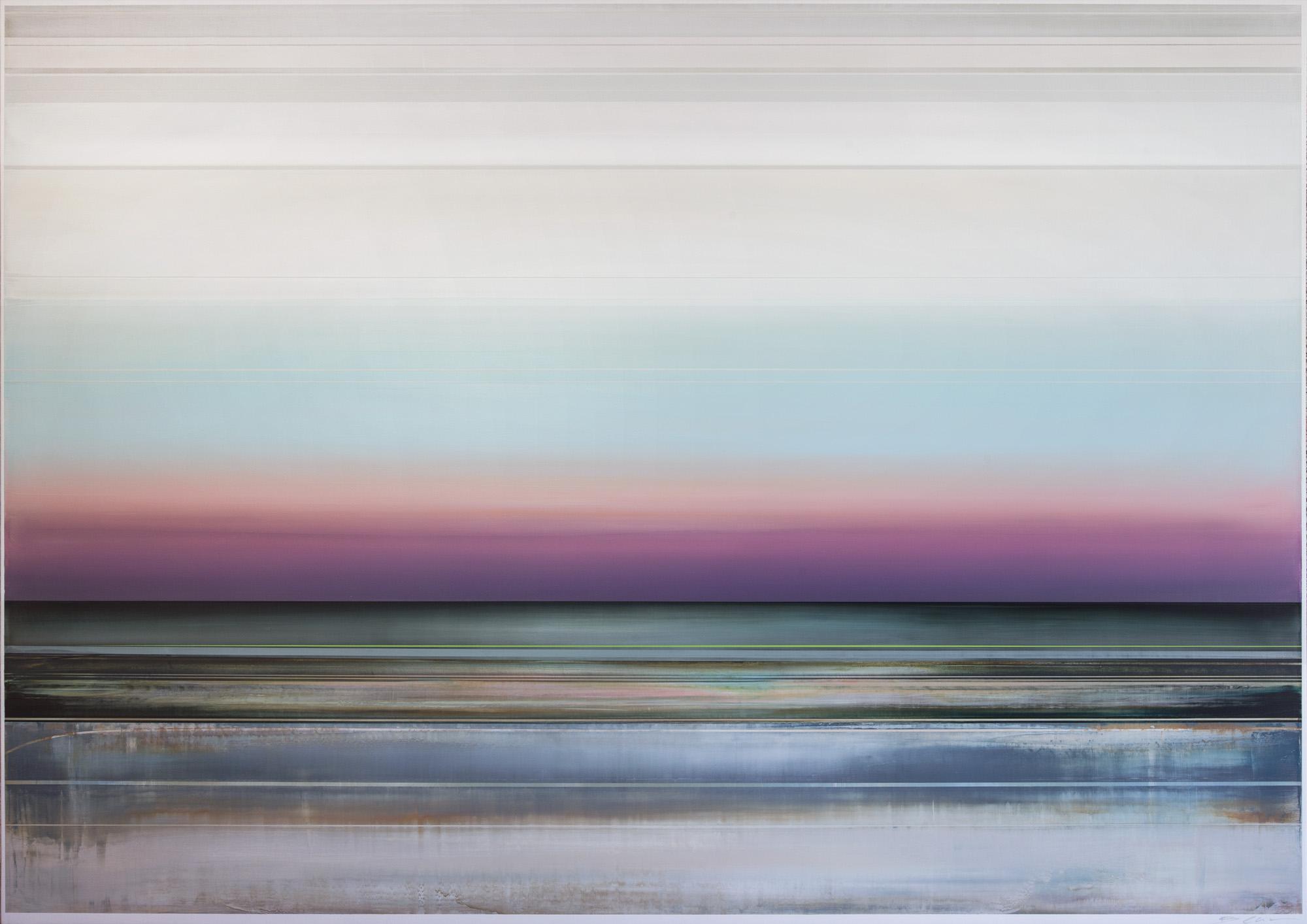 Artist: Micah Crandall-Bear, USA  Title: LUCIA Medium: acrylic on canvas  Dimension: 153 X 213 cm Year: 2019    SOLD
