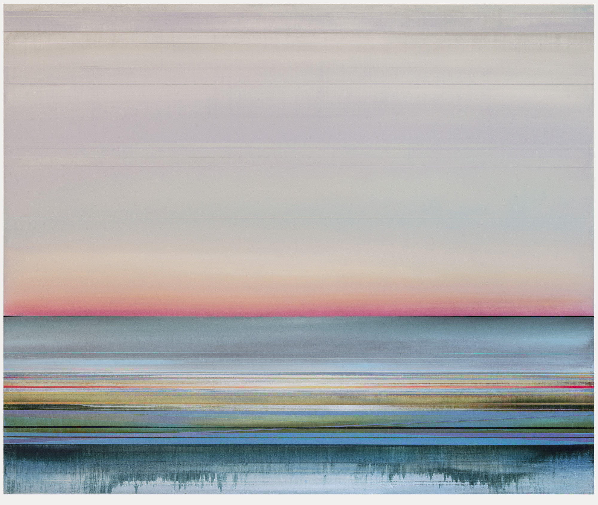 Artist: Micah Crandall-Bear, USA  Title: ORCHID Medium: acrylic on canvas  Dimension: 153 X 183 cm Year: 2019    SOLD