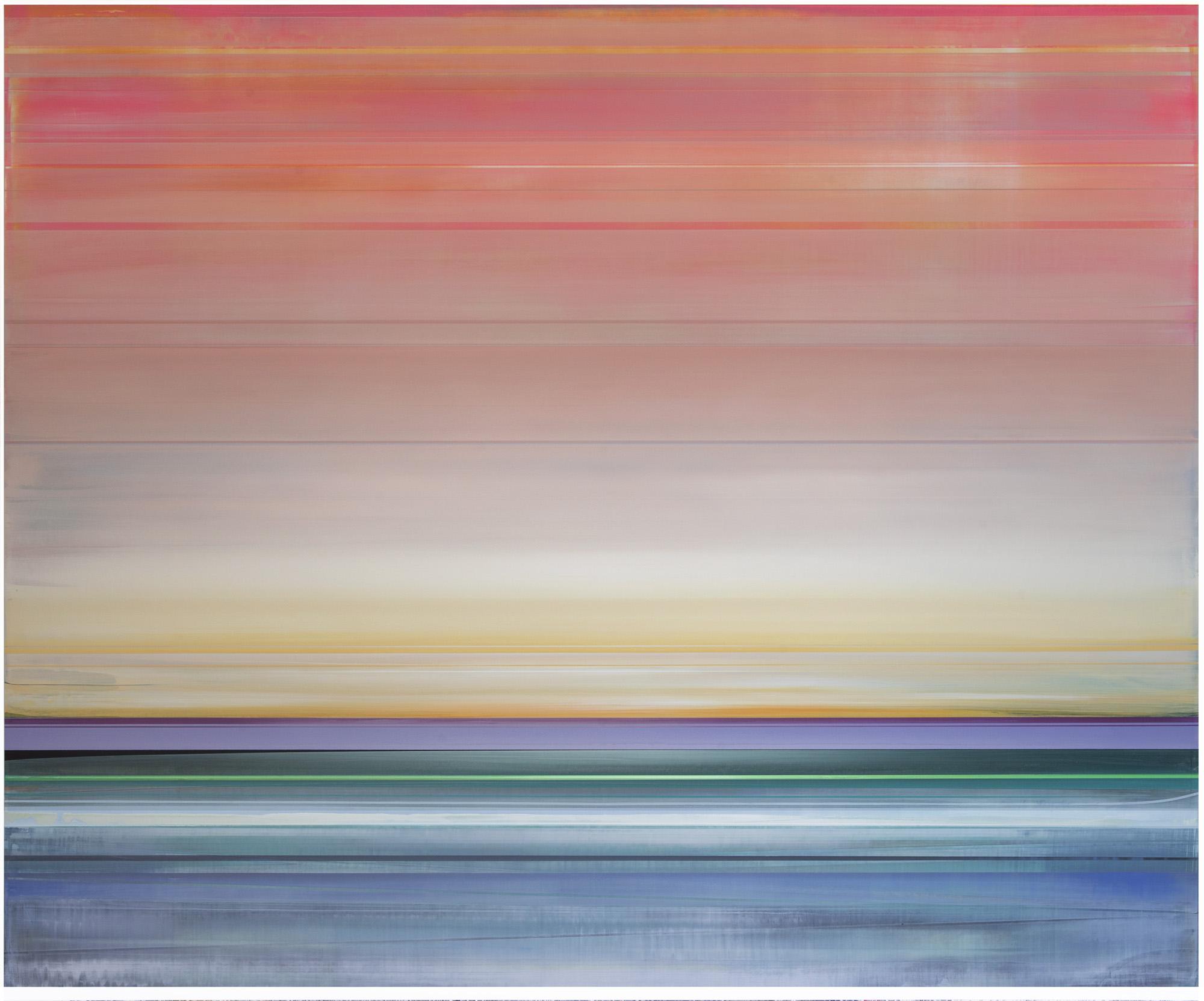 Artist: Micah Crandall-Bear, USA  Title: HELIO Medium: acrylic on canvas  Dimension: 153 X 183 cm Year: 2019    SOLD