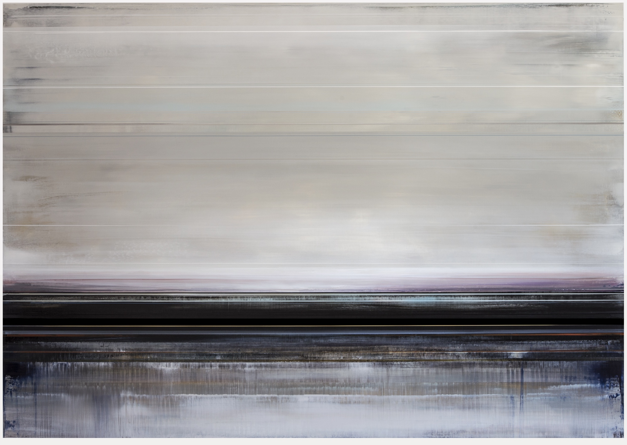 Artist: Micah Crandall-Bear, USA  Title: ONYXIUM Medium: acrylic on canvas  Dimension: 153 X 213 cm Year: 2019    SOLD