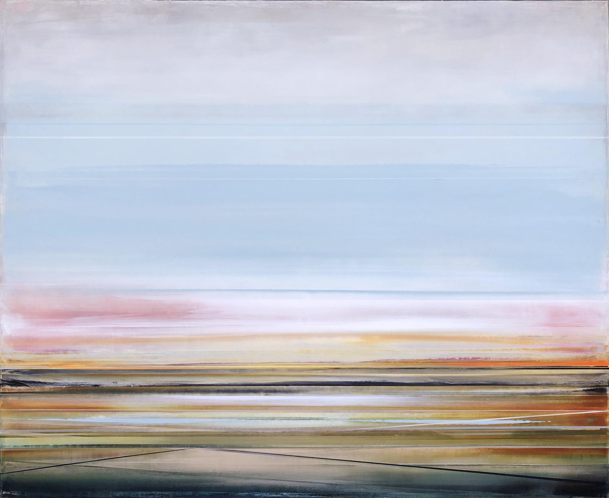 Artist: Micah Crandall-Bear, USA  Title: SKYEN Medium: acrylic on canvas  Dimension: 137 X 168 cm Year: 2019