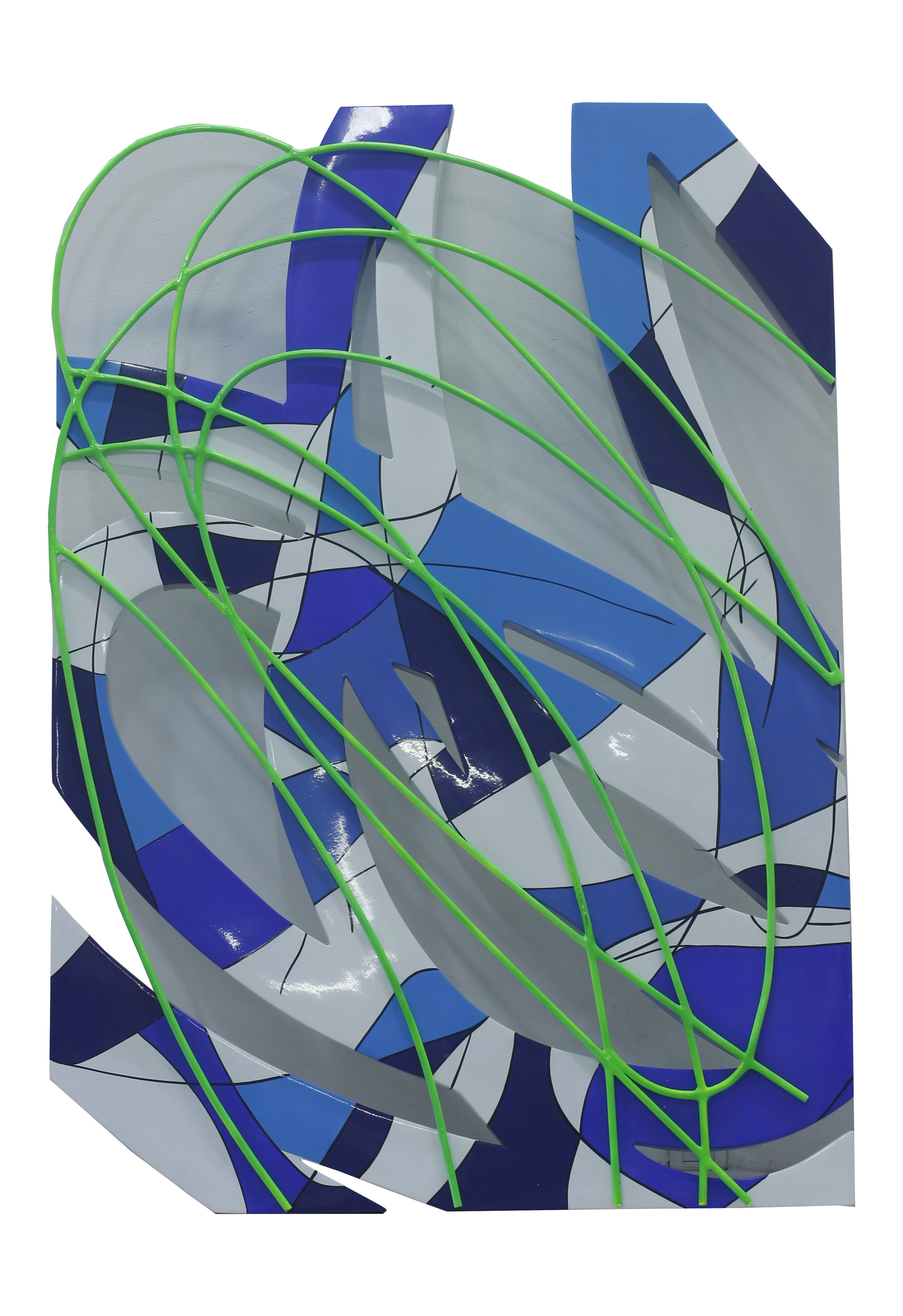 Artist: Erwin Windu Pranata, Indonesia  Title: The Stroke #3 Medium: polyurethane paint on steel sheet Dimension: 100 X 140 X 6 cm Year: 2019