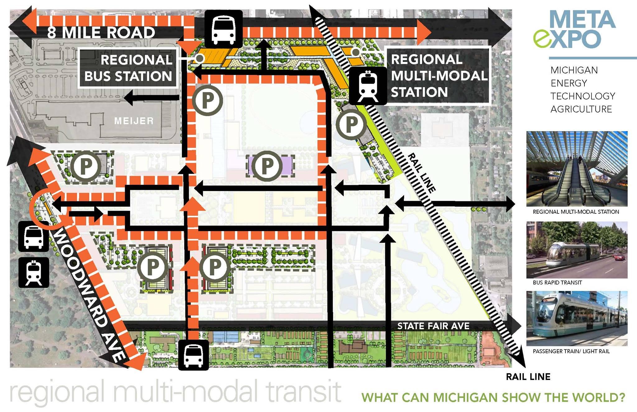 Regional Multi-modal Transit Hub - traffic patterns
