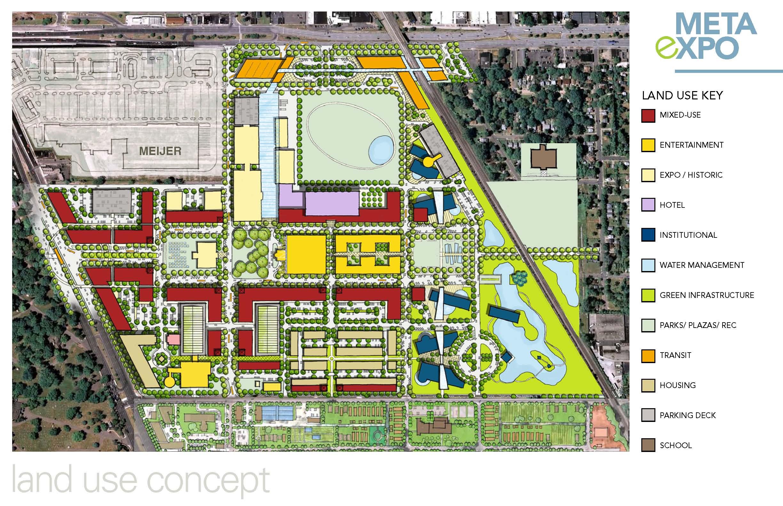 Land use concept & the multi-modal transit hub