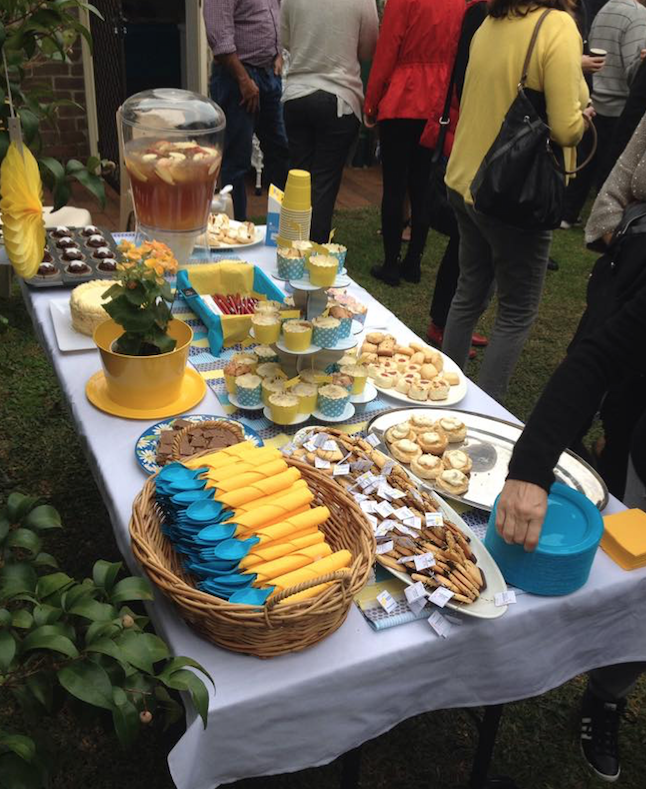 An afternoon tea to fundraise for the ANZSA.