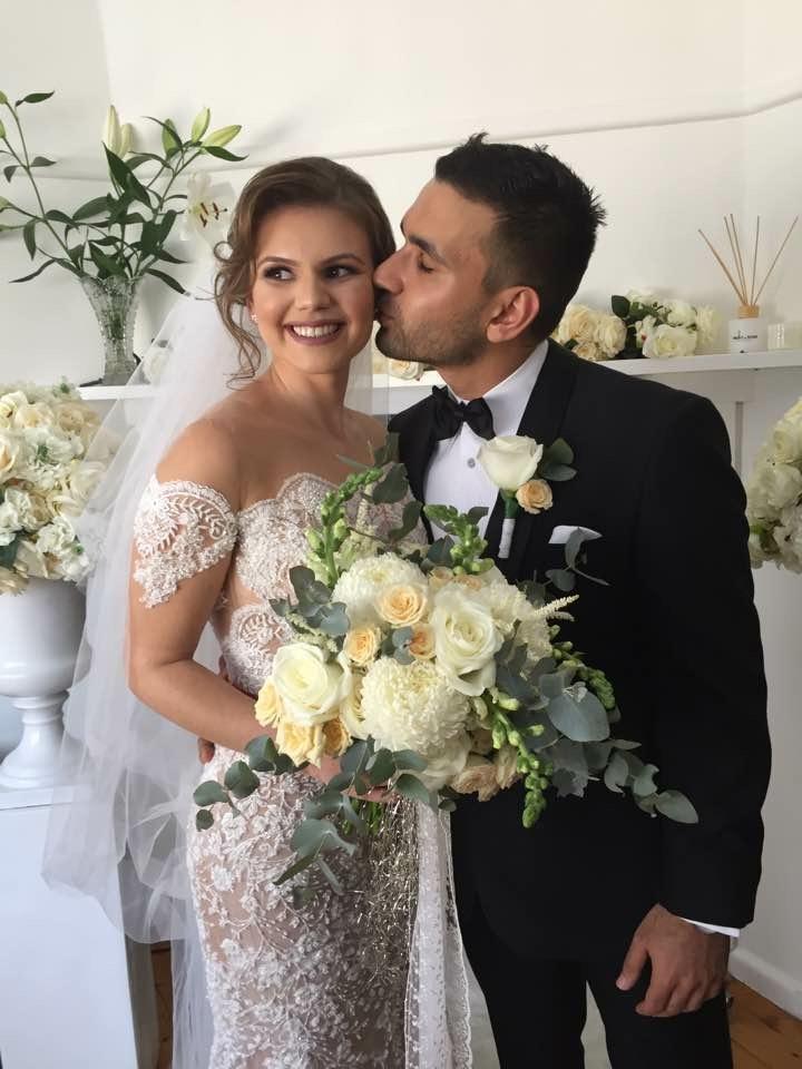 Kerim and Melis on their wedding day