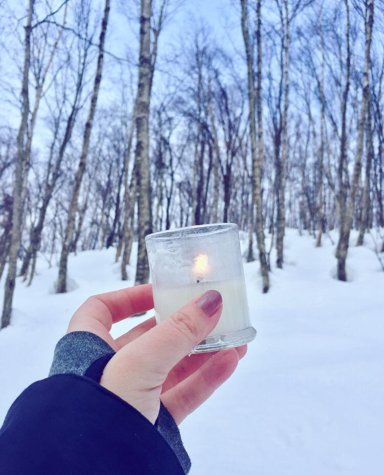 Lighting a candle for Laura in Japan