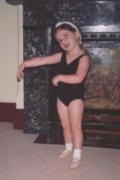 Laura in 1994 in her dancing leotard
