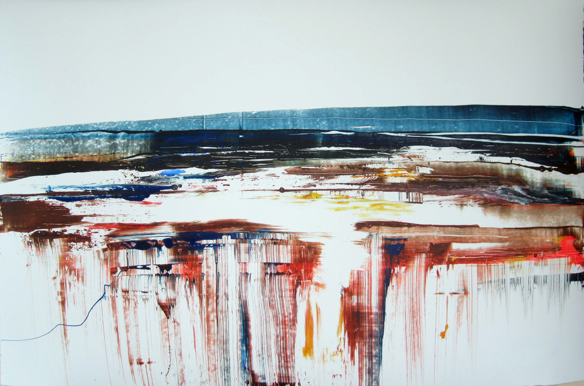 """""""The Curve of the Earth"""" 75 X 105 cm"""