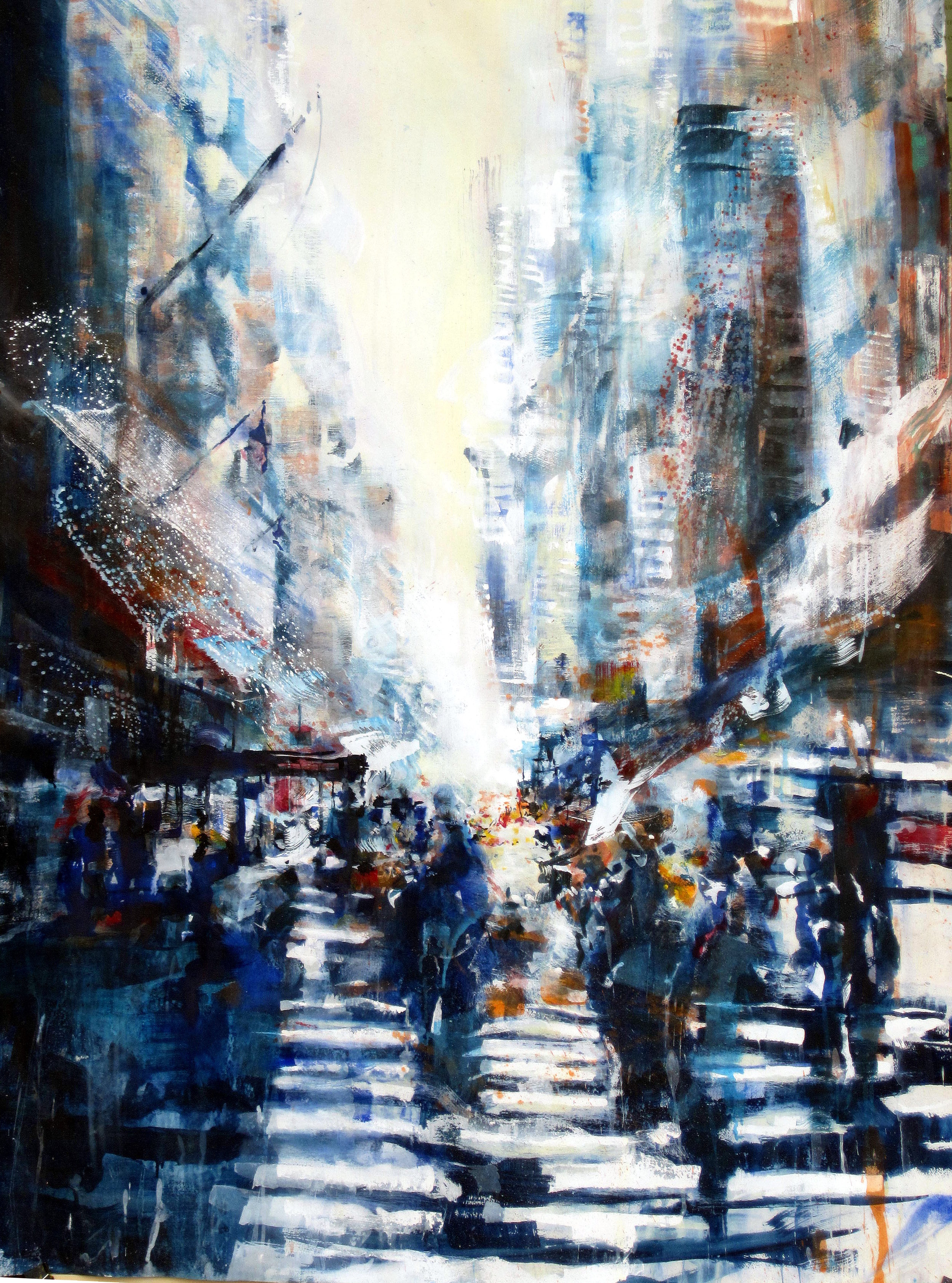 """New York - Cascading"" 152 x 108 cm"