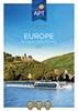 EUROPE RIVER CRUISING 2017