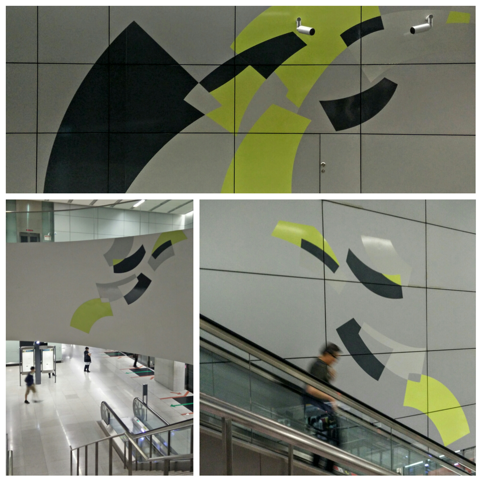 Graphic design art in subway station