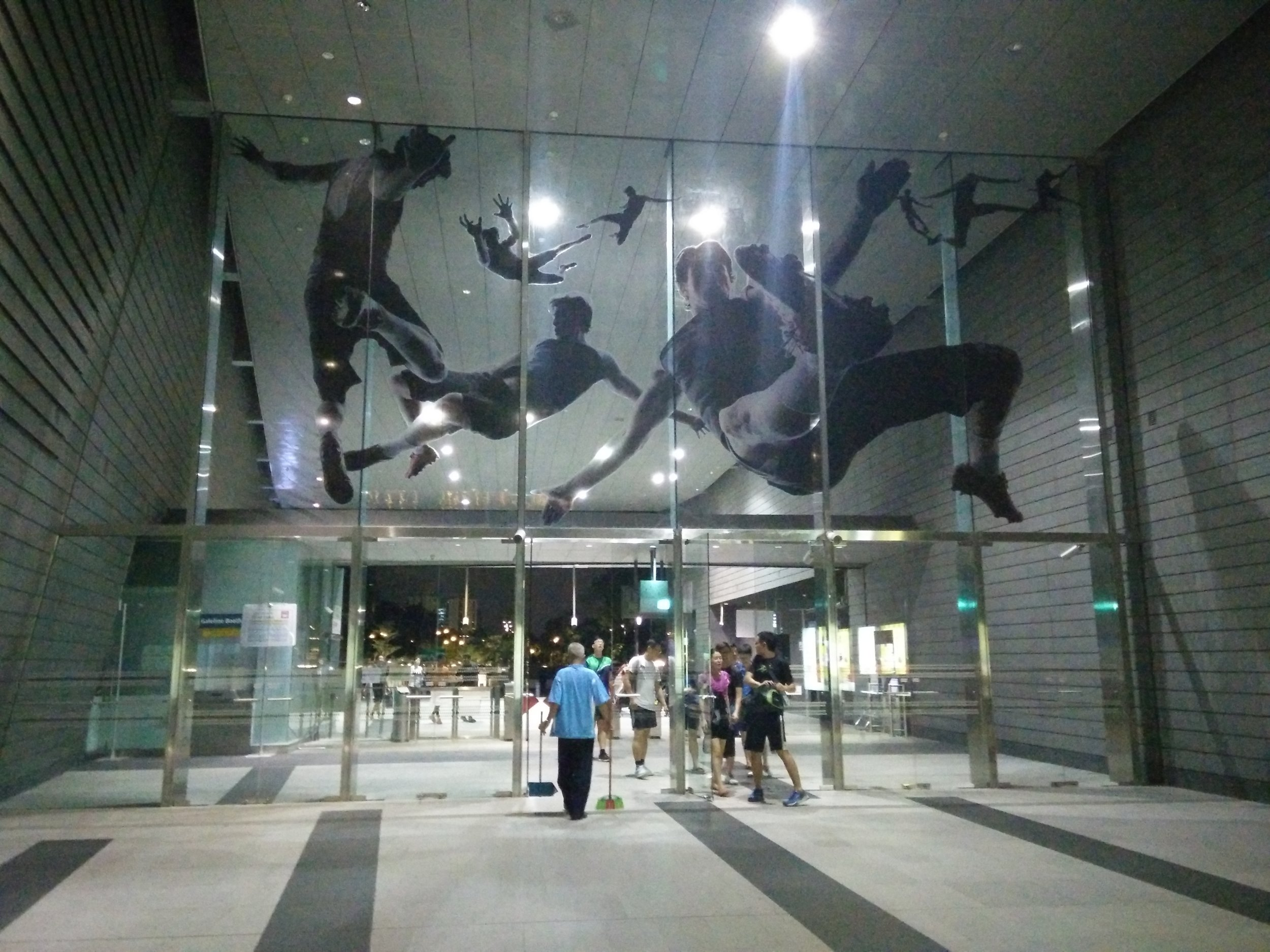 Movement in sports  - art at the Stadium MRT station