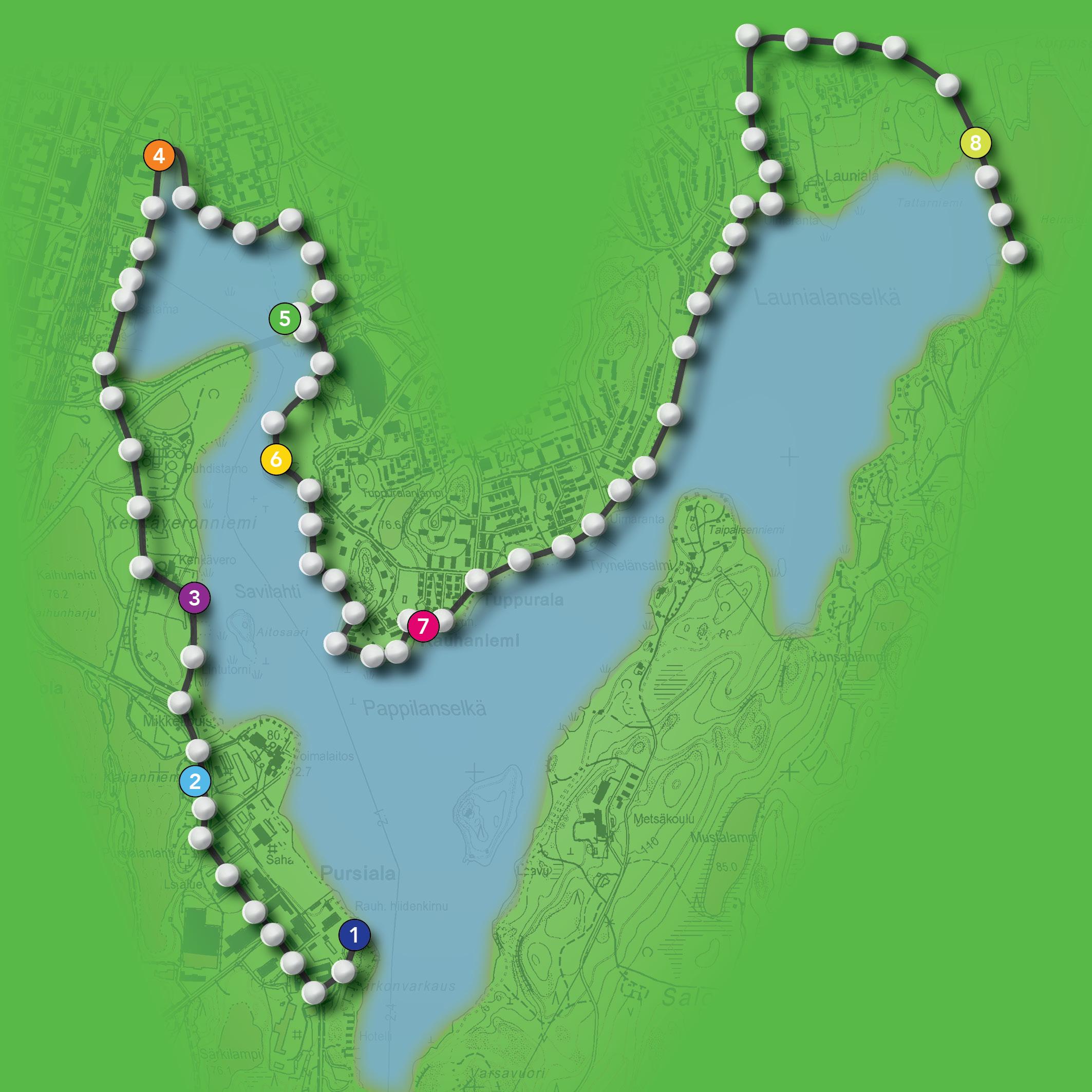 Rantojen Helmet -reitti kulkee Mikkelin keskustan rannoilla. Ideana on kiinnittää huomiota eri tyyppisiin kaupunkitiloihin, siihen, mikä missäkin on keskeistä. Haluamme kuulla kaiken ikäisiäja taustaisia kaupunkilaisia!