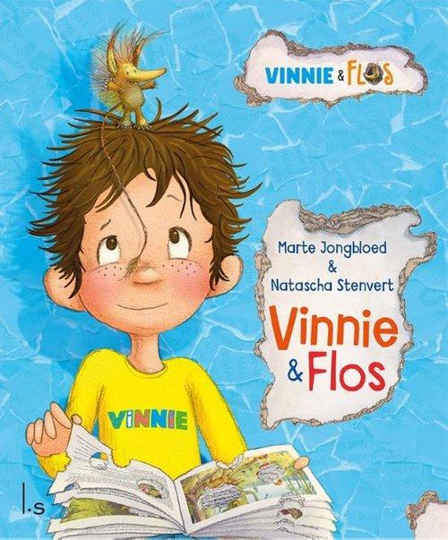 """Onder het motto """"Samen durven ze alles' geven Vinnie en zijn ondeugende vriendje Flos jonge kinderen net dat beetje zelfvertrouwen om nieuwe dingen uit te proberen. Vinnie verhuist met zijn ouders naar een nieuw huis. Alles is een beetje eng in het begin, ook de nieuwe slaapkamer. Maar dan ontmoet hij Flos die in een boek in zijn kamer woont. Vinnie en Flos worden dikke vrienden en beleven samen veel avonturen waarbij de één de ander en dan weer de ander de één uit de brand helpt. Vinnie & Flos bevat 15 korte afgeronde kleuterverhalen."""